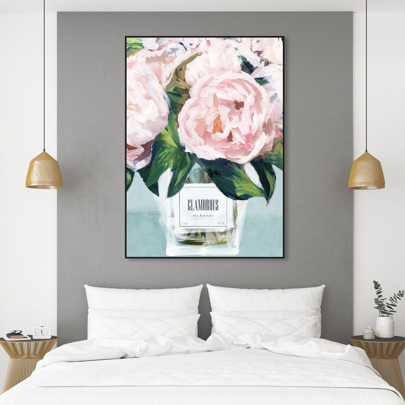 Hanging view of Glamorous Milano Pastel featuring floral and botanical and florals art.