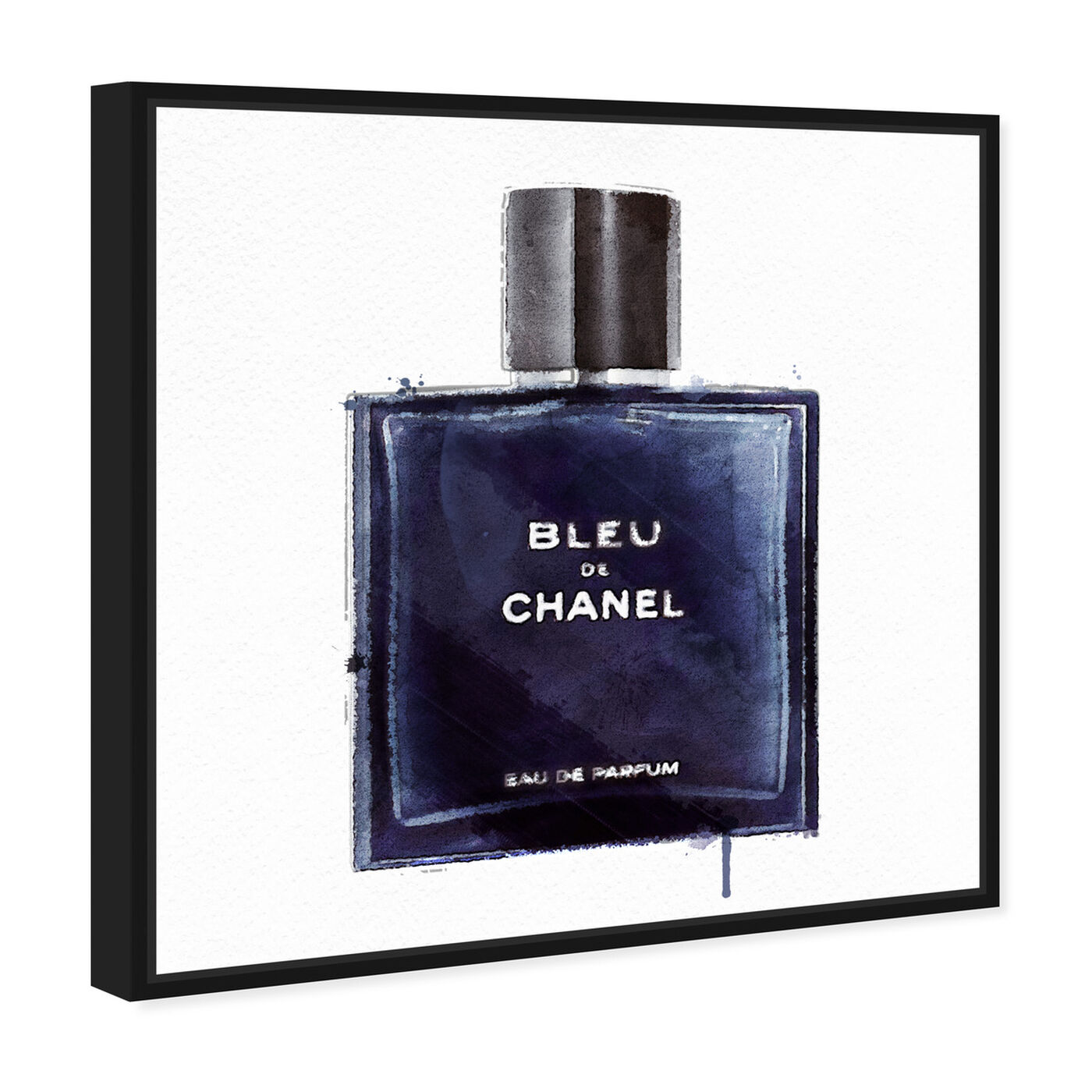 Angled view of Men Perfume Monsieur Bleu featuring fashion and glam and perfumes art.