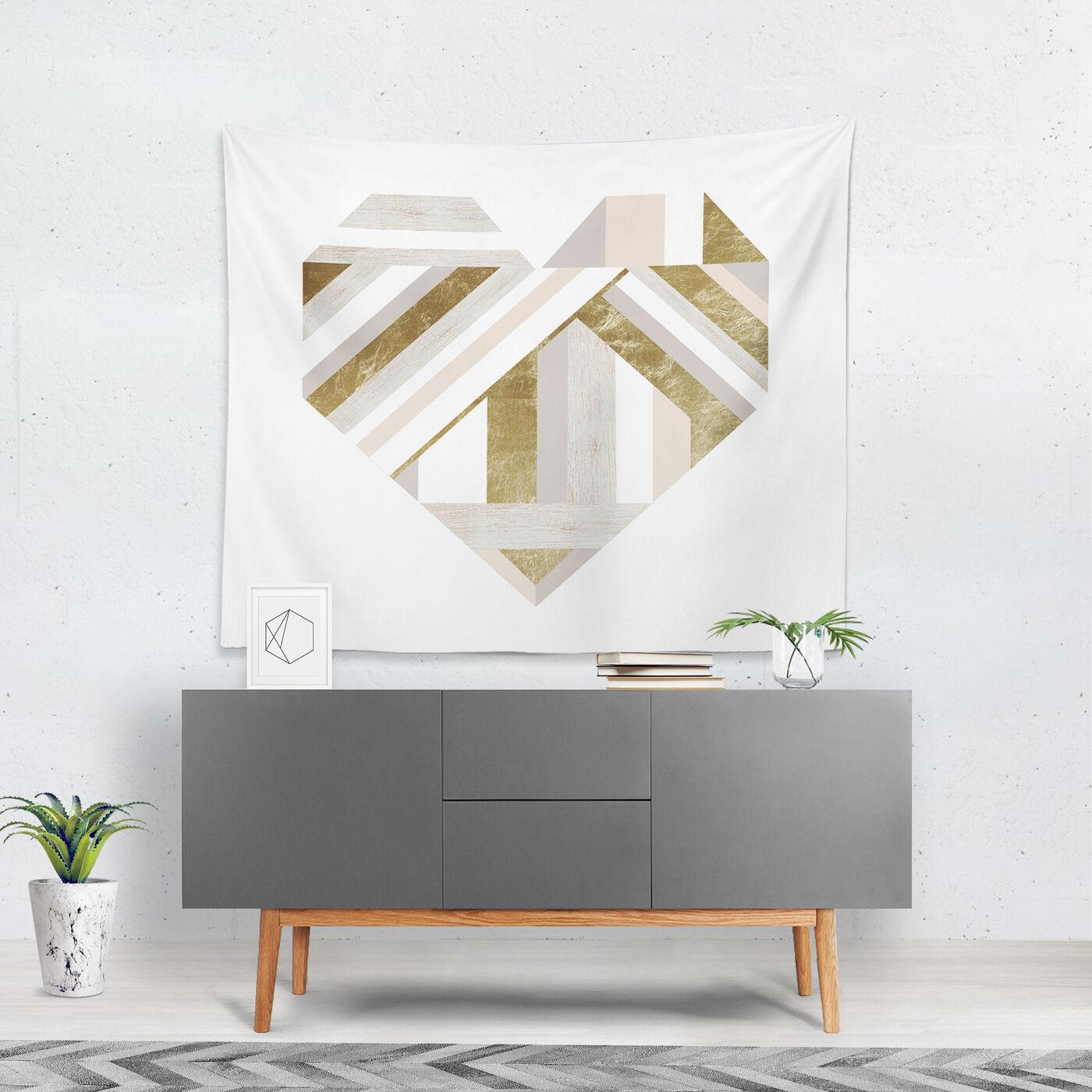 My Wooden Heart Tapestry Art