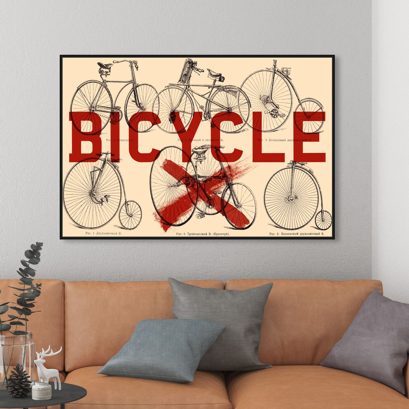 Hanging view of Bicycle featuring transportation and bicycles art.
