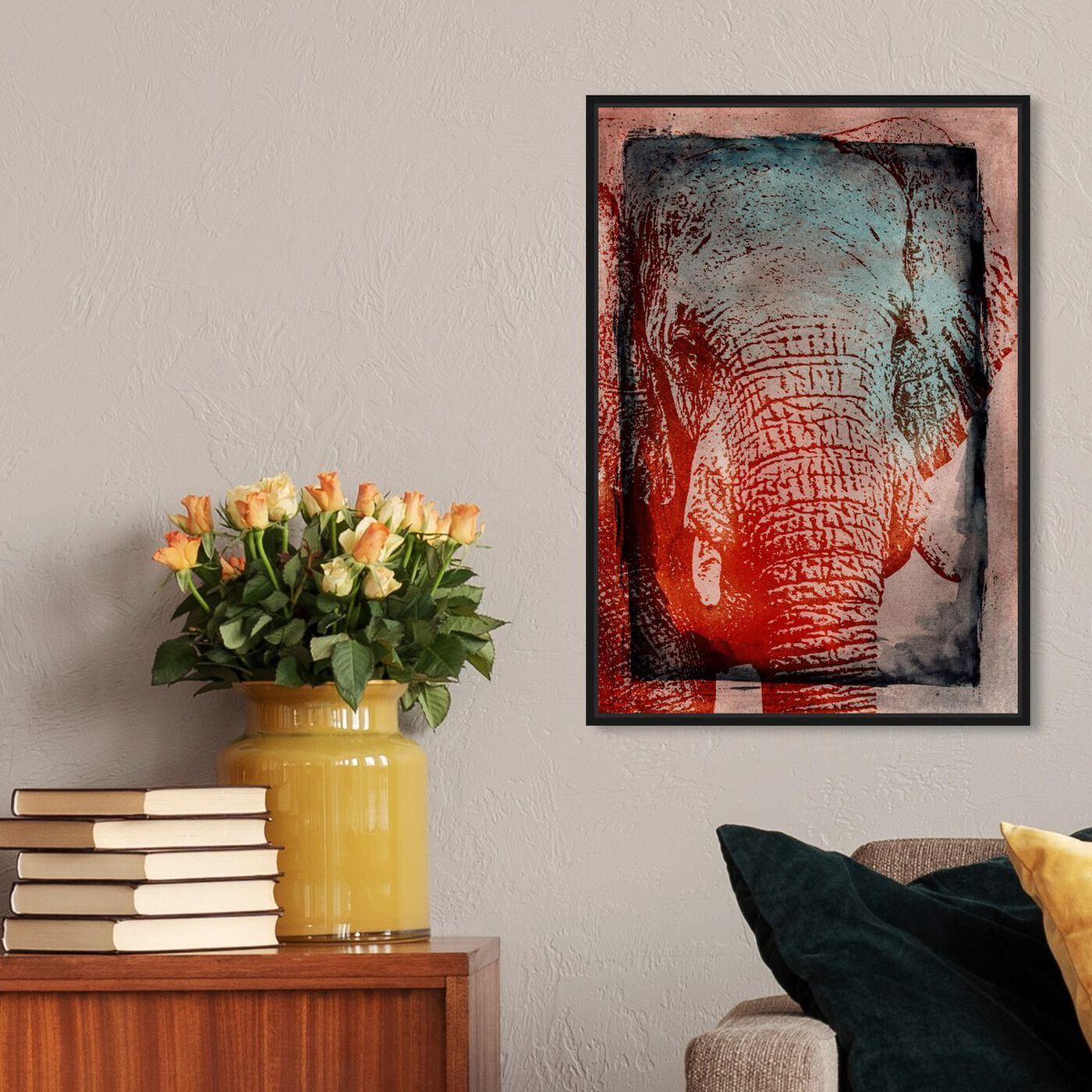 Hanging view of Elephant in the Wild featuring animals and zoo and wild animals art.