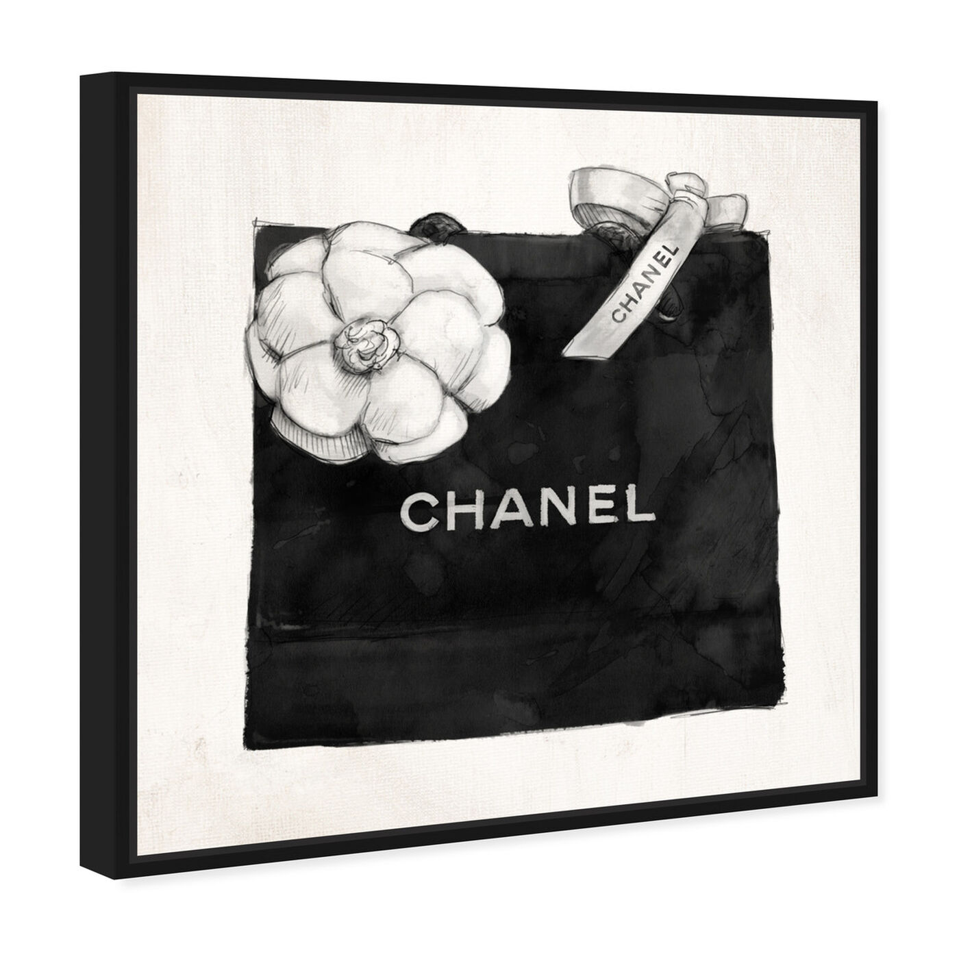 Angled view of Luxury Shopping Bag I featuring fashion and glam and fashion lifestyle art.