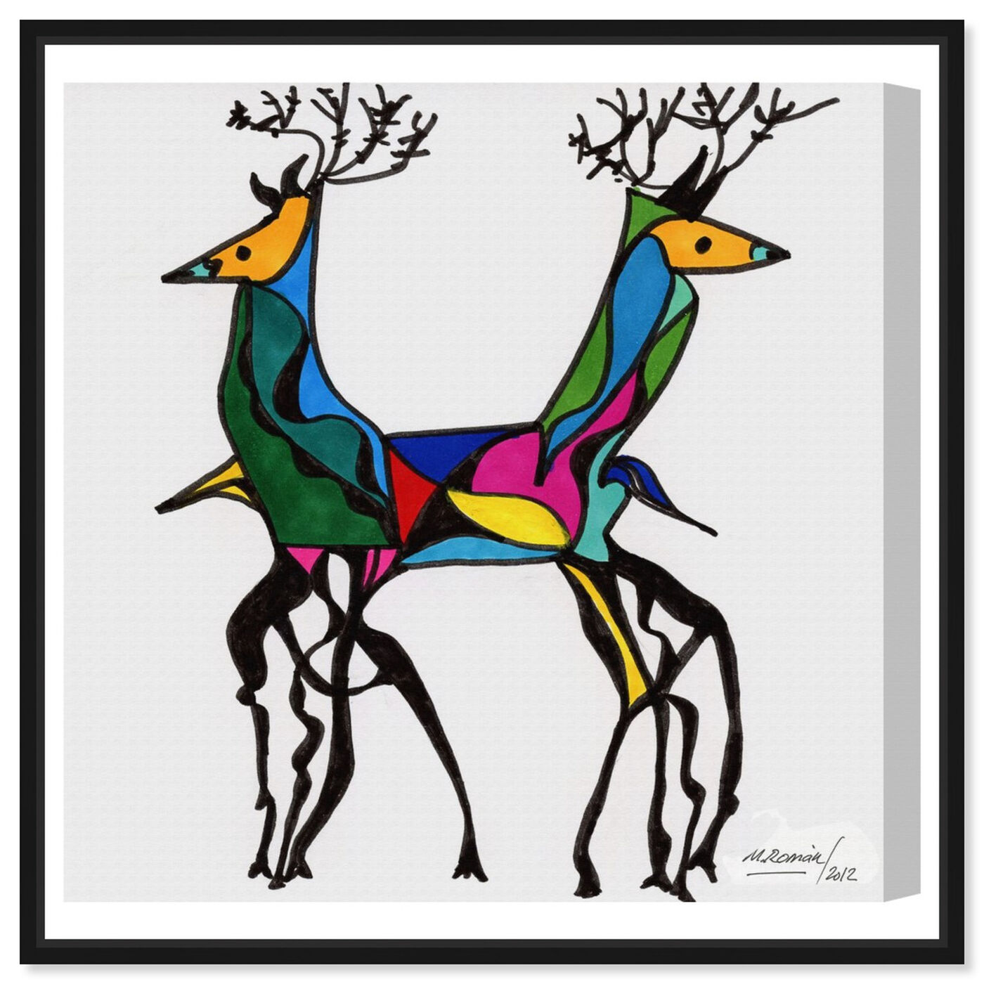 Front view of Be Deer featuring animals and zoo and wild animals art.