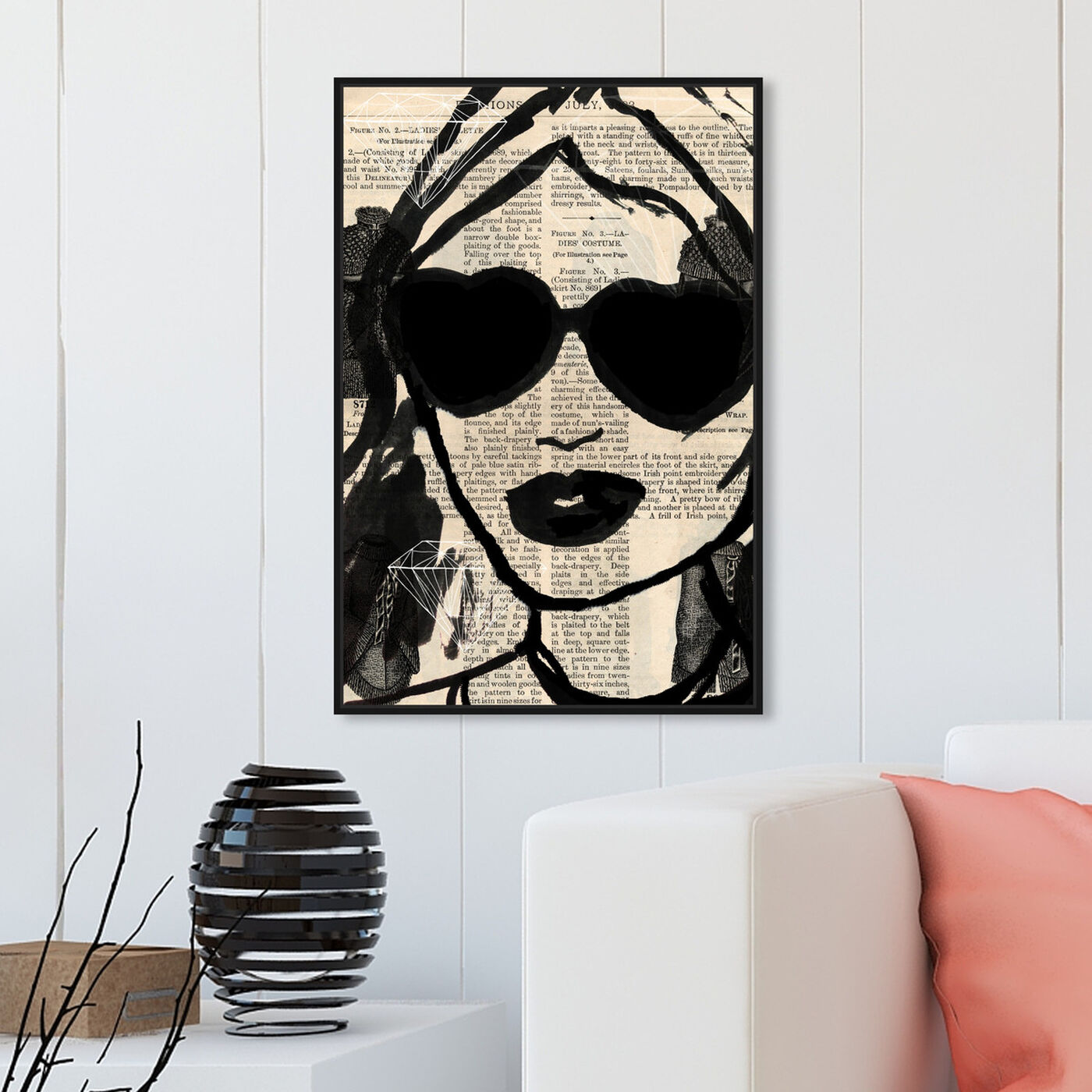 Hanging view of Bijoux featuring fashion and glam and portraits art.