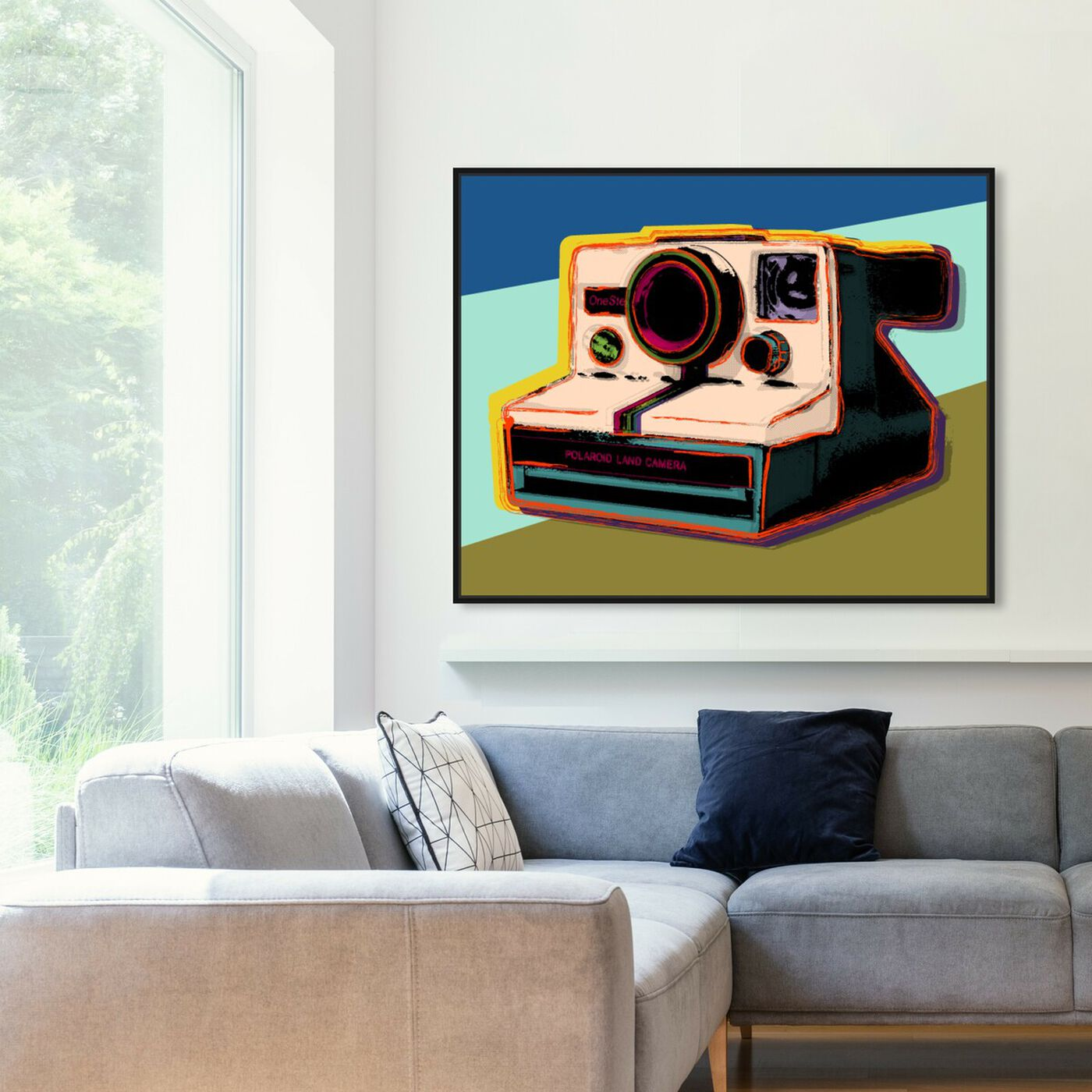 Hanging view of Polaroid Visions featuring entertainment and hobbies and photography art.