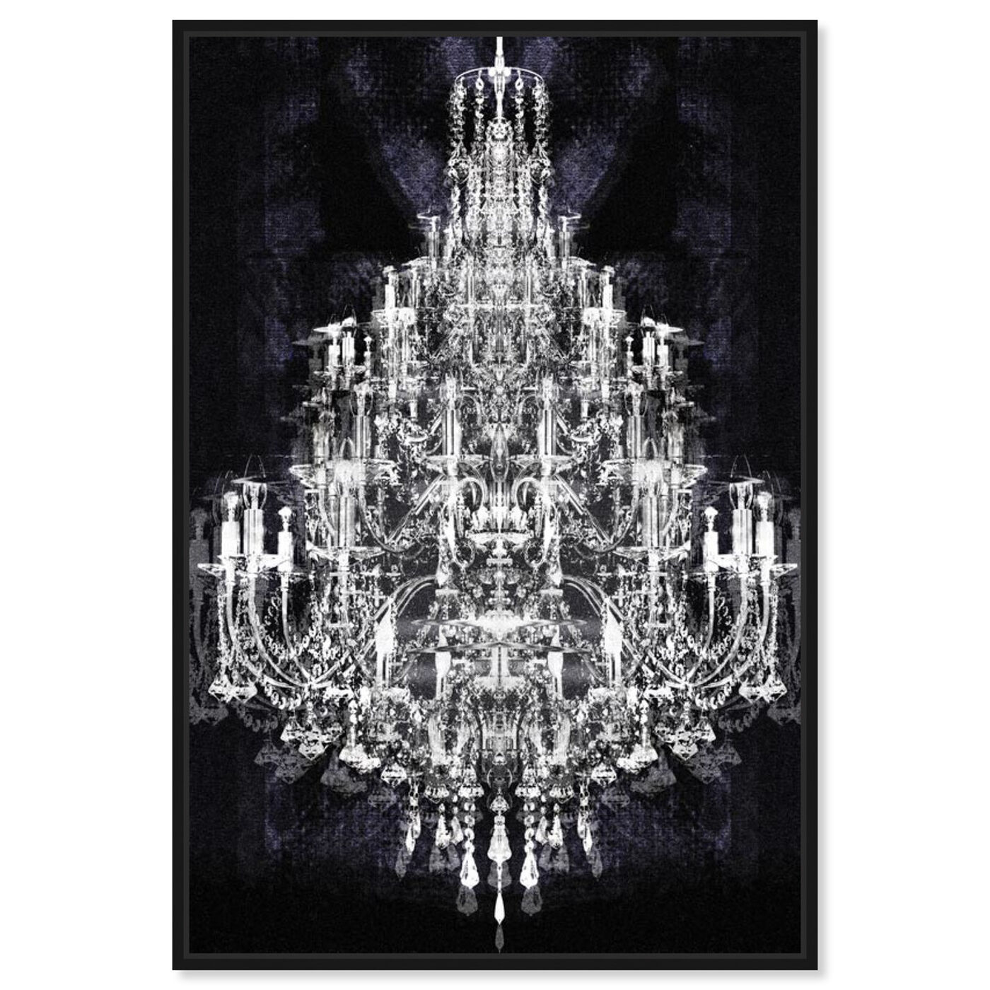 Front view of Montecarlo Crystal featuring fashion and glam and chandeliers art.