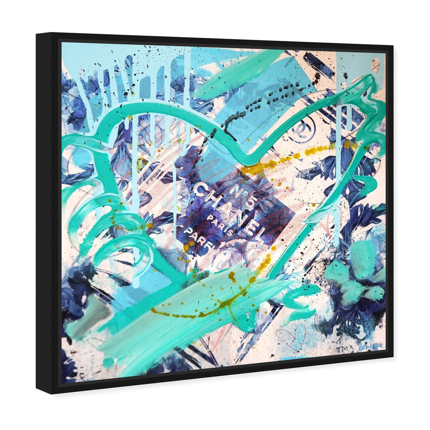 Angled view of Blue Flower Scent Remix by Tiago Magro featuring fashion and glam and perfumes art.