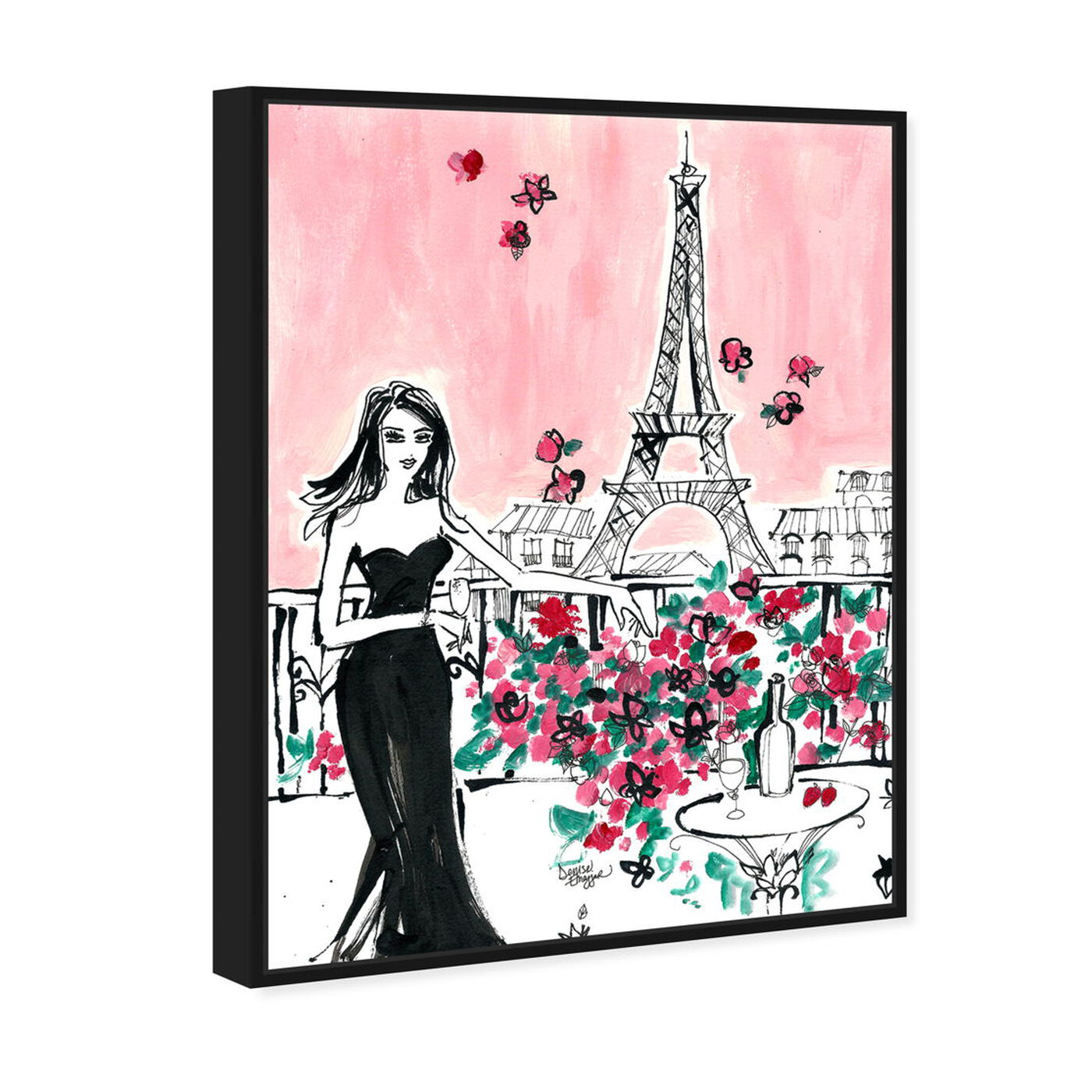 Angled view of Denise Elnajjar - Blooms In Paris featuring fashion and glam and dress art.