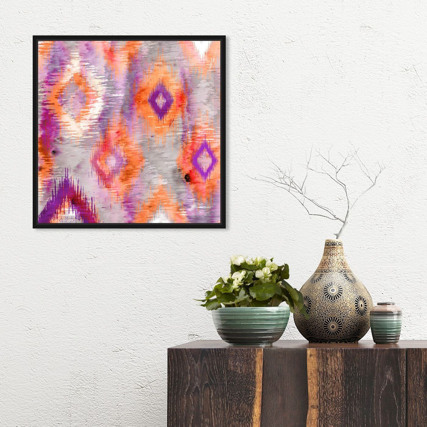 Hanging view of Big in Japan featuring abstract and patterns art.