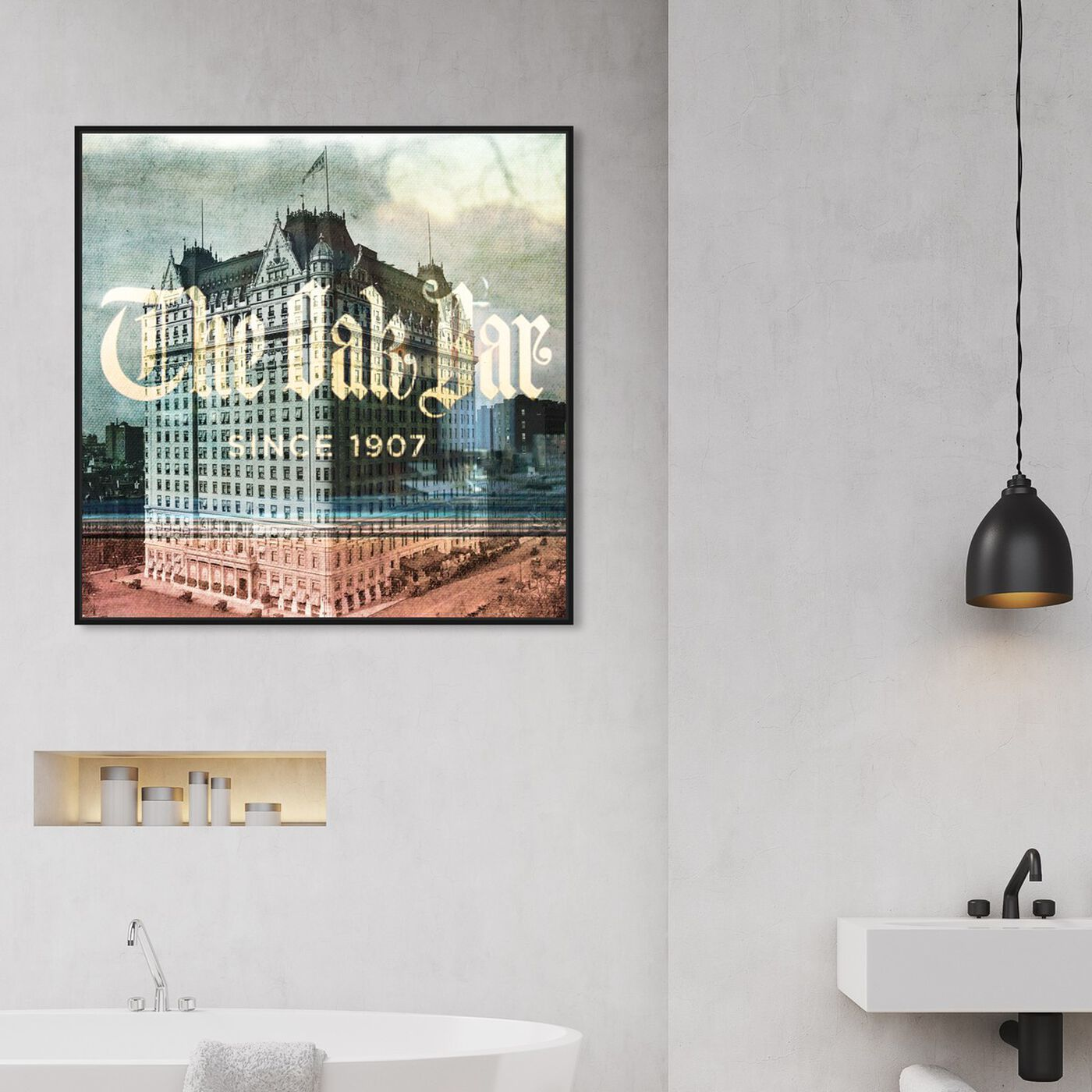 Hanging view of The Oak Bar featuring architecture and buildings and united states buildings art.