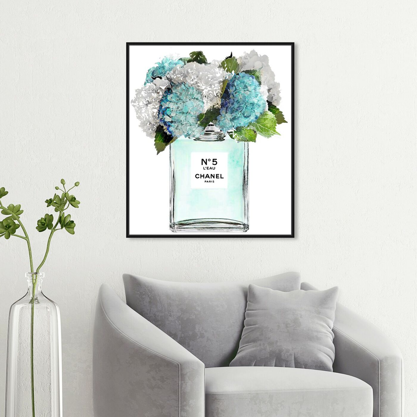 Hanging view of Bright and Airy Garden Scent Blue featuring fashion and glam and perfumes art.