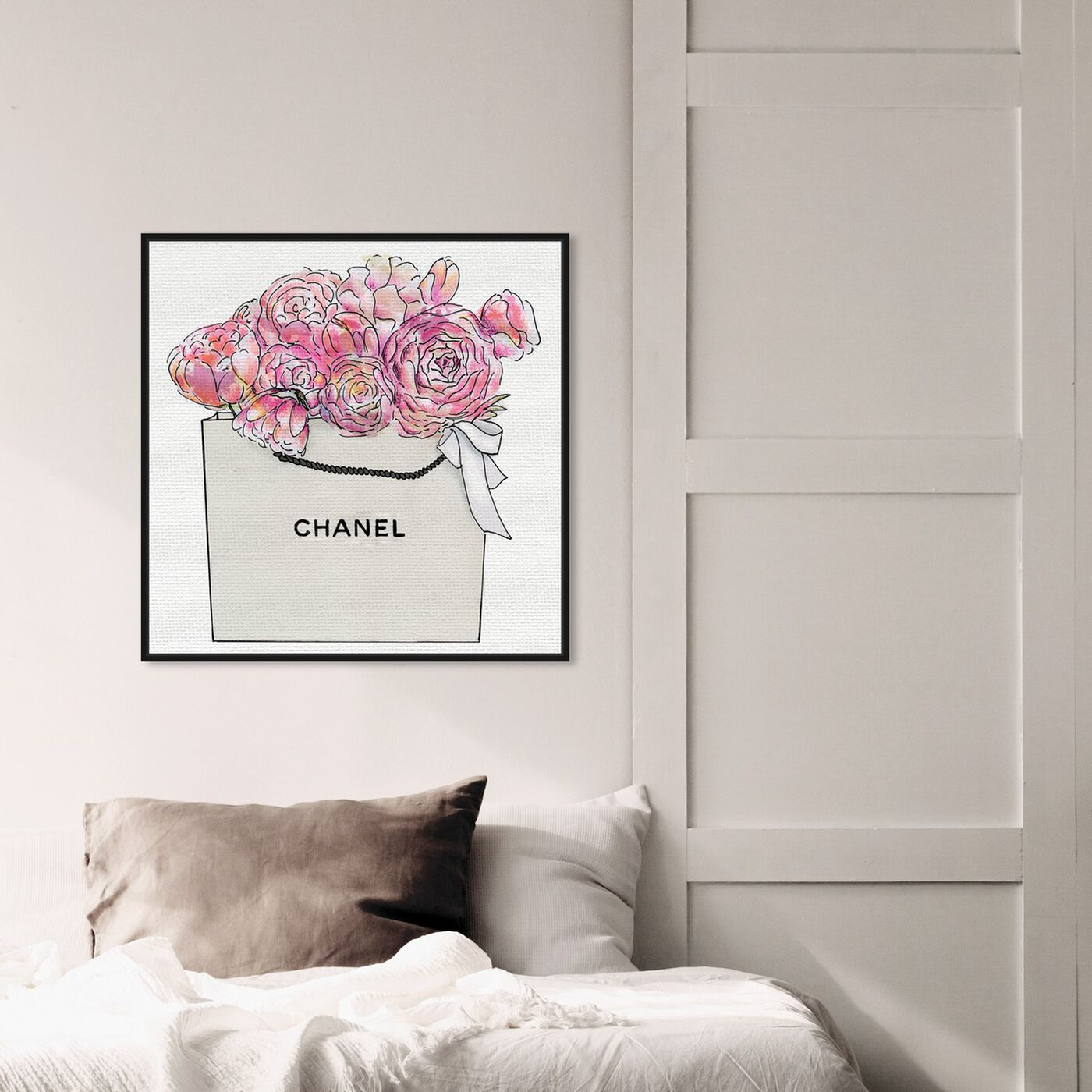 Hanging view of Market Day Flowers II featuring floral and botanical and florals art.