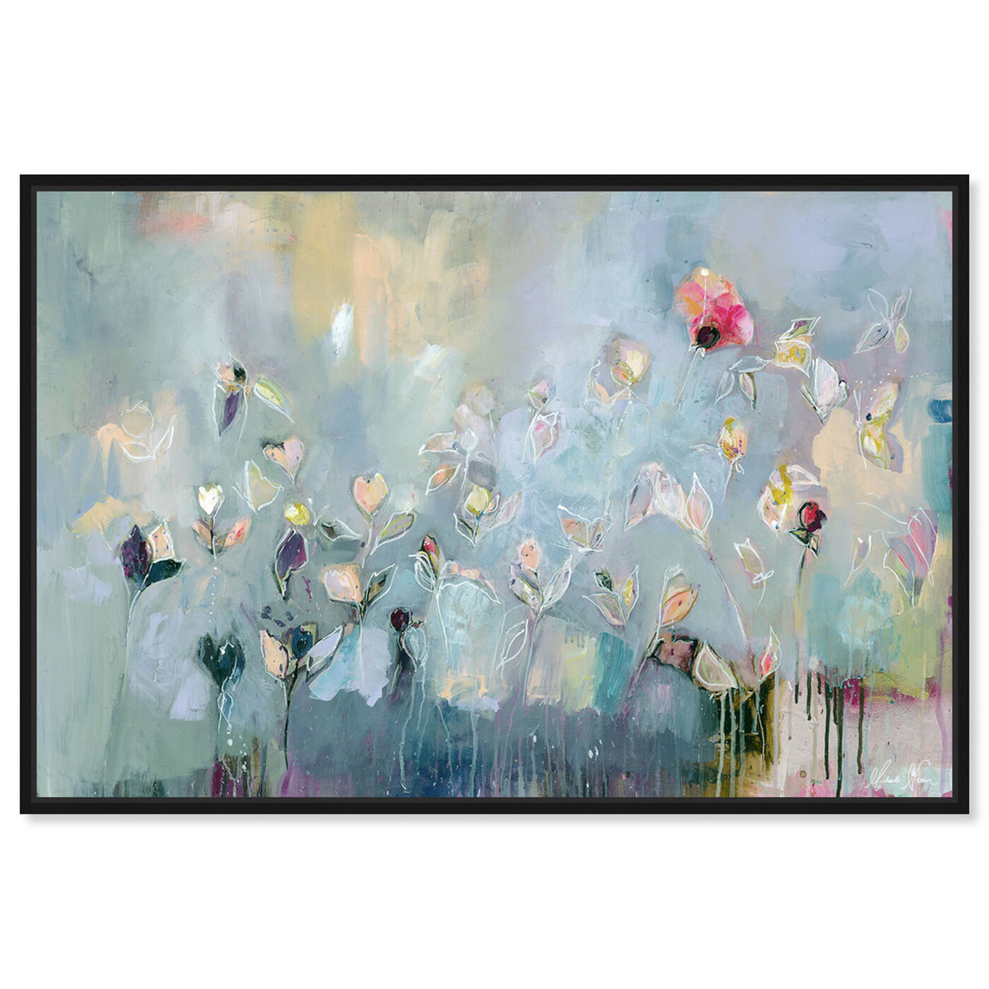 Front view of Michaela Nessim - Infinitely Divine featuring abstract and flowers art.