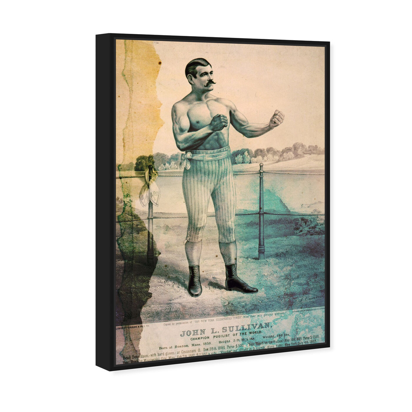 Angled view of Pugilist featuring sports and teams and boxing art.