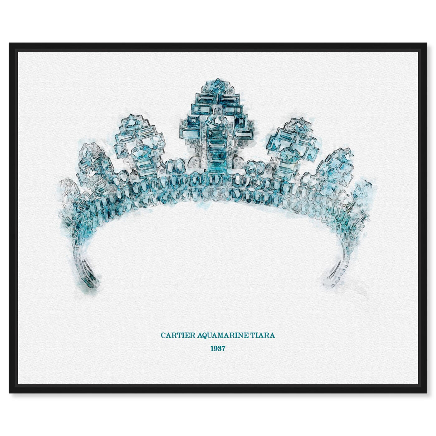 Front view of Aquamarine Tiara 1937 featuring fantasy and sci-fi and fairy tales art.
