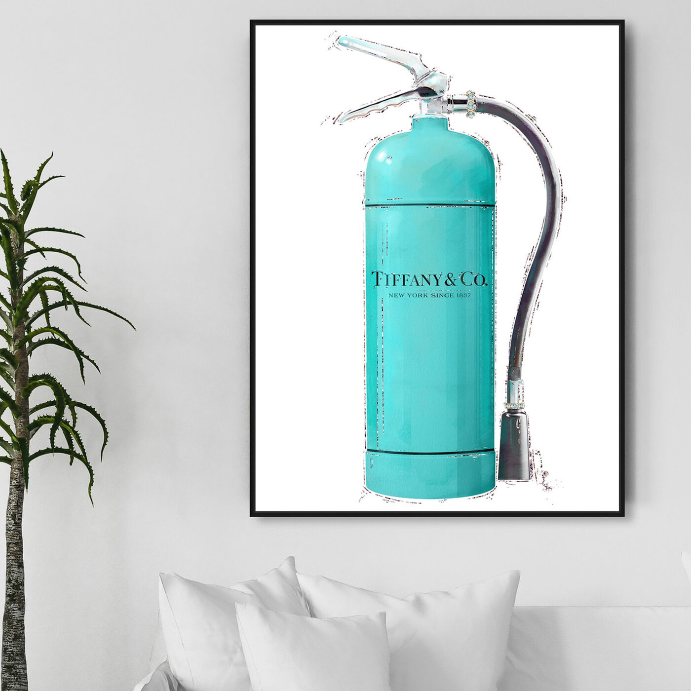 Hanging view of Acqua Extinguisher featuring fashion and glam and lifestyle art.