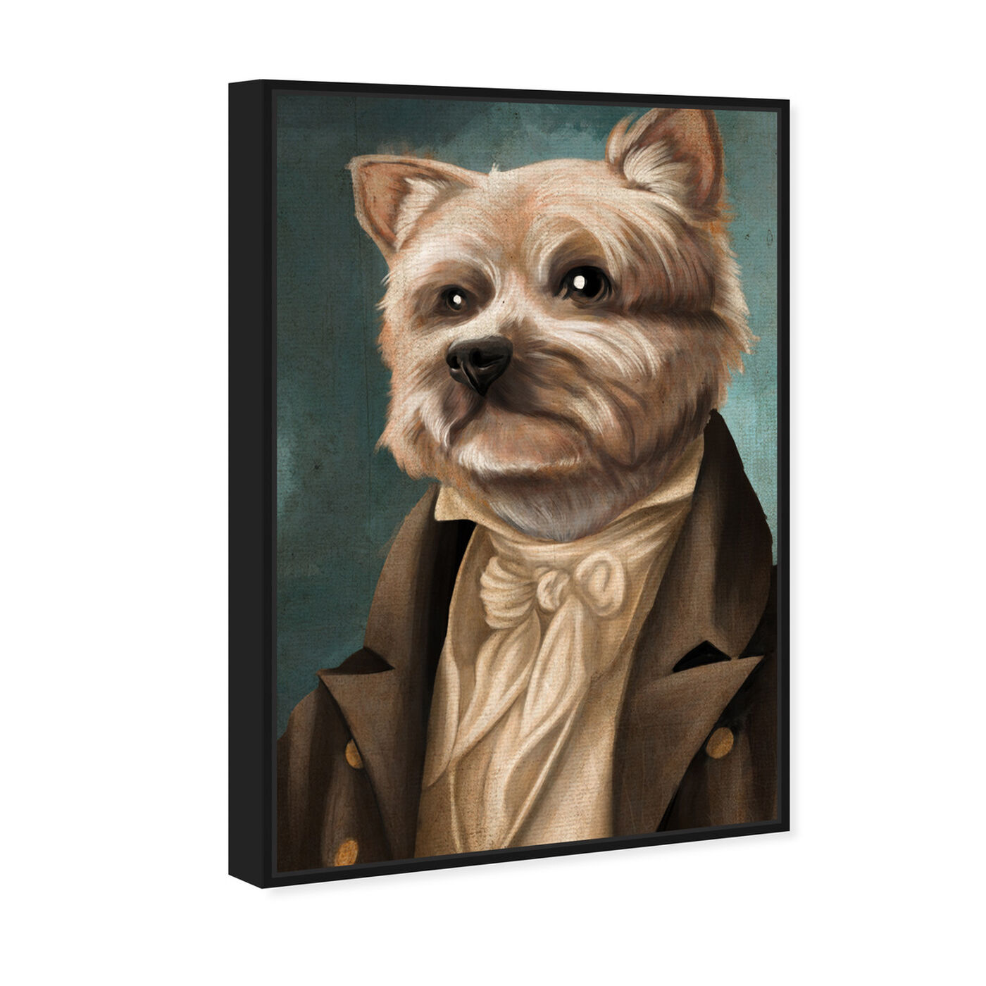Angled view of Yorkie Gentlemen featuring animals and dogs and puppies art.