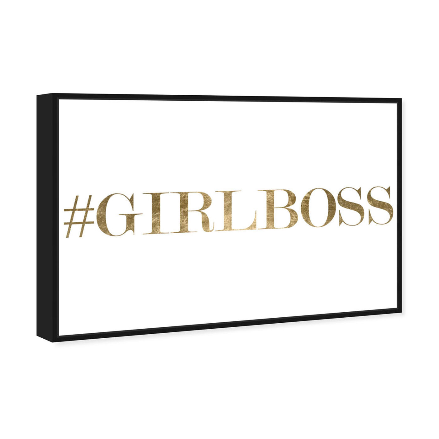 Angled view of Girlboss featuring typography and quotes and empowered women quotes and sayings art.