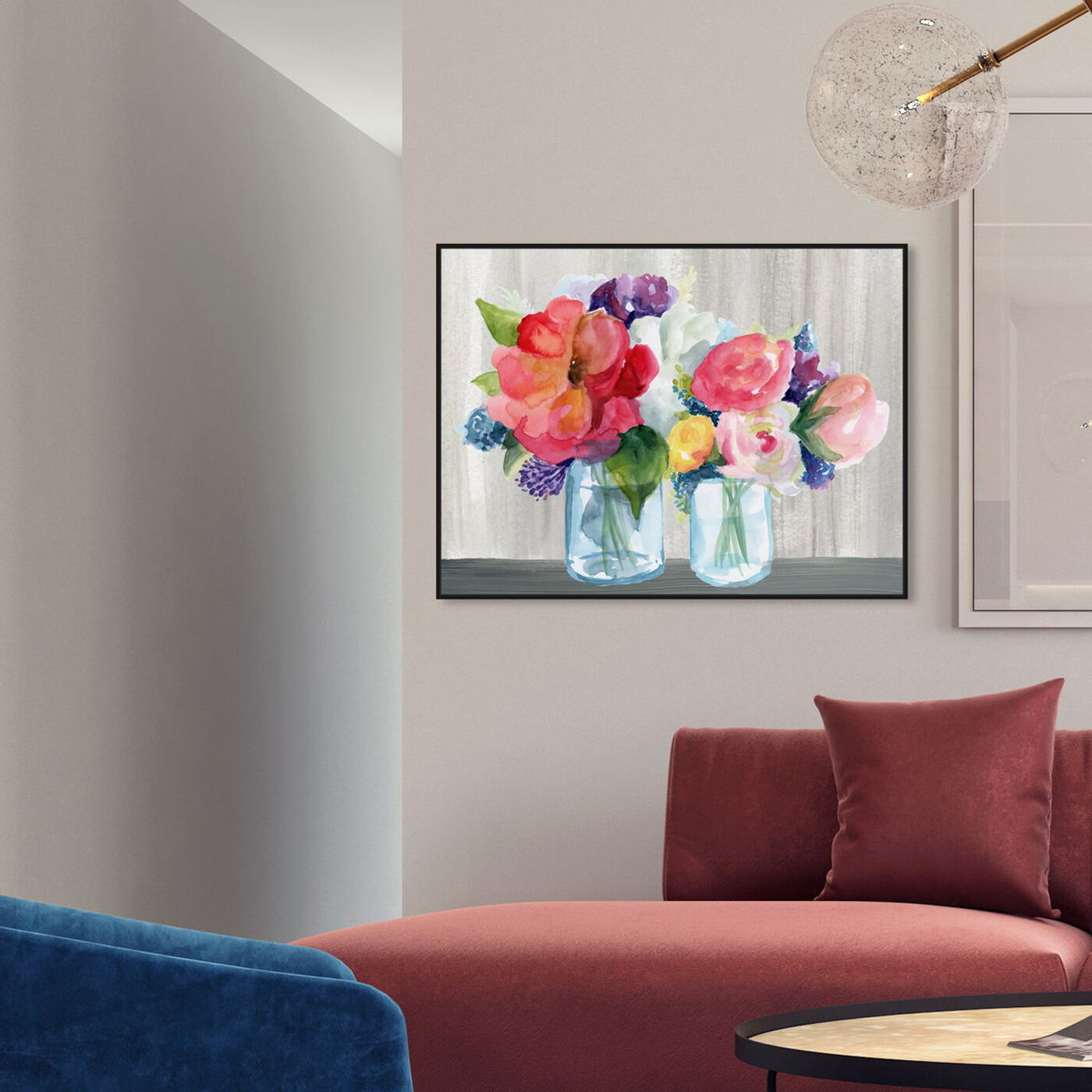 Hanging view of Flower Shop featuring floral and botanical and florals art.