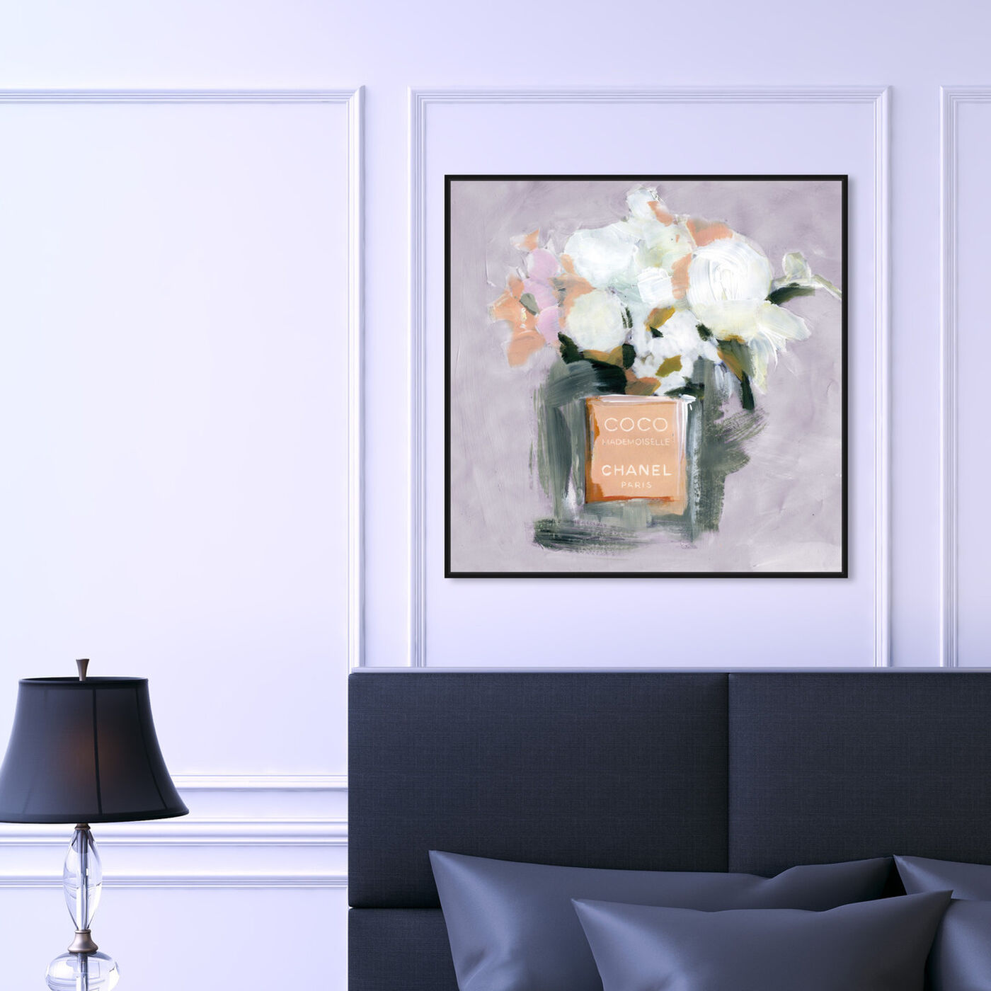 Hanging view of L'Eau de Rose Lavender featuring fashion and glam and perfumes art.