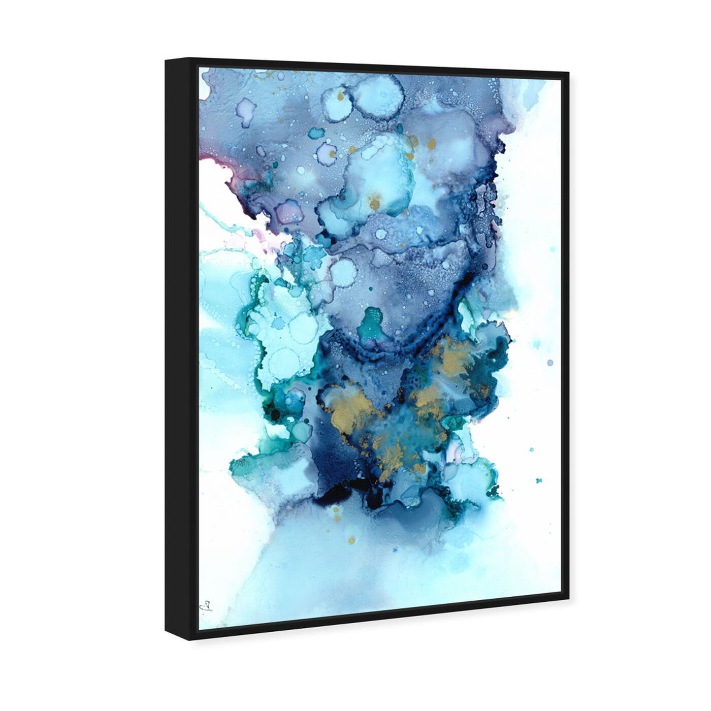 Angled view of Jamie Blicher - Whitney featuring abstract and watercolor art.