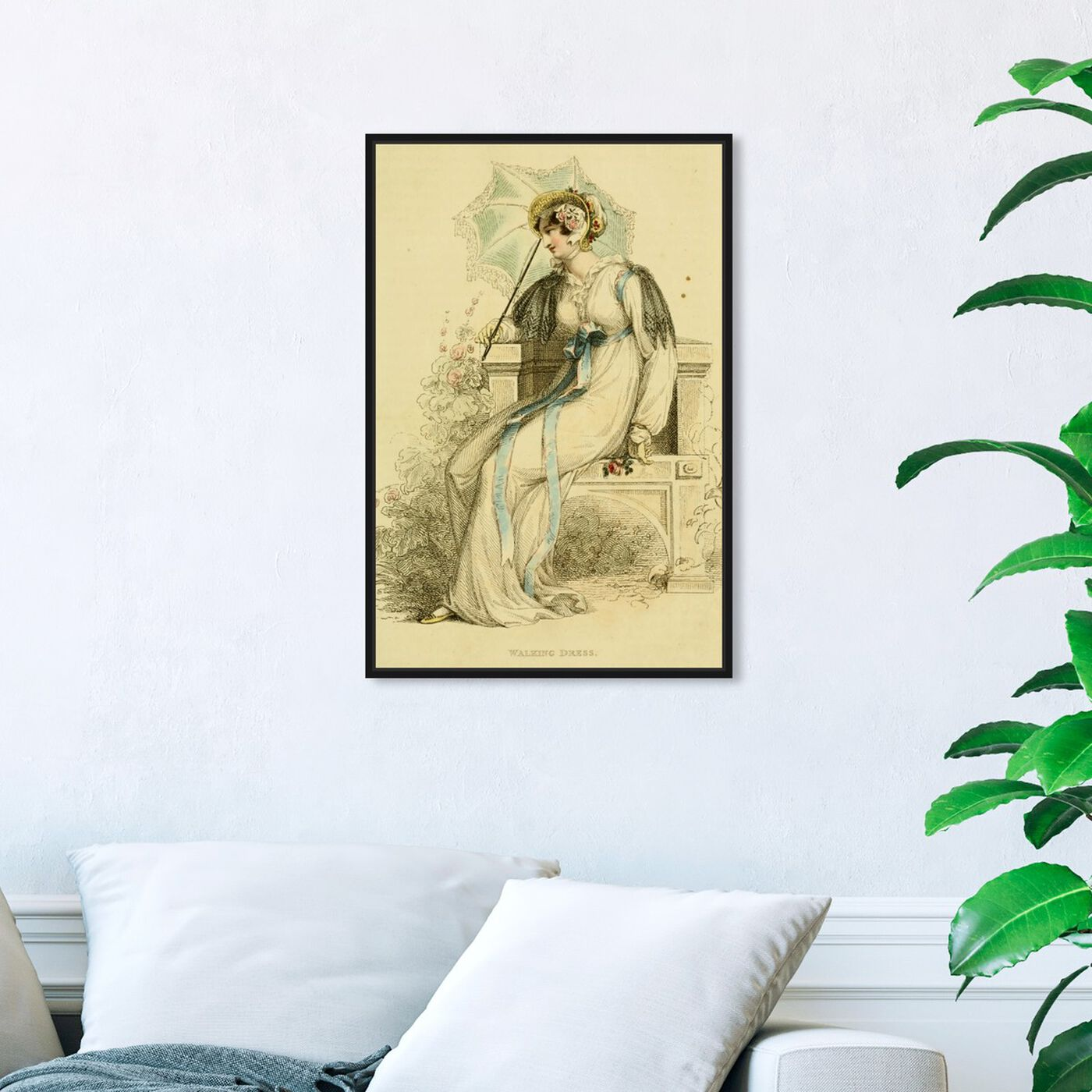 Hanging view of Walking Dress - The Art Cabinet featuring classic and figurative and realism art.