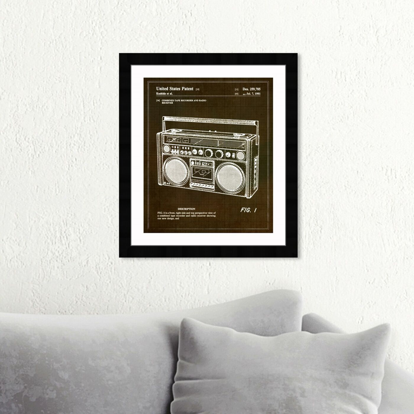 Hanging view of Boombox 1978 featuring music and dance and music instruments art.