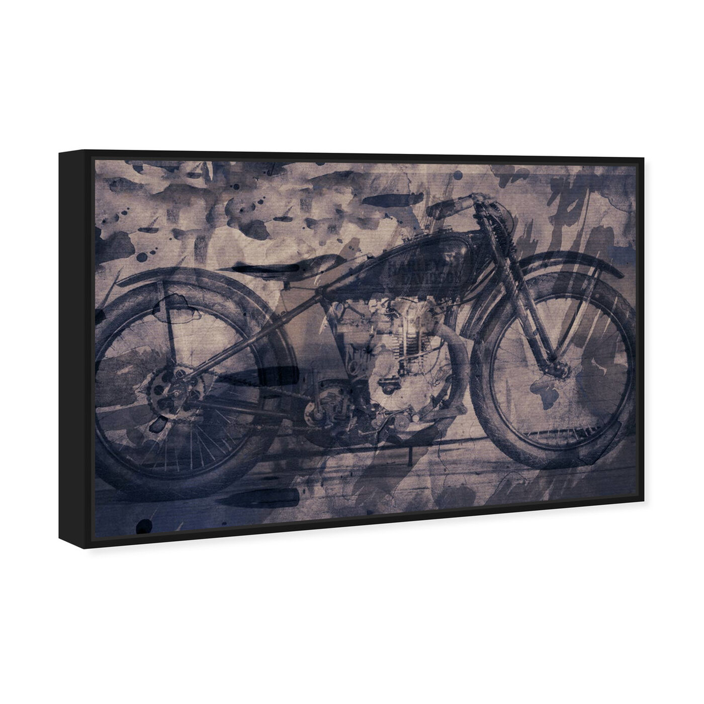 Angled view of Vintage Bike featuring transportation and motorcycles art.