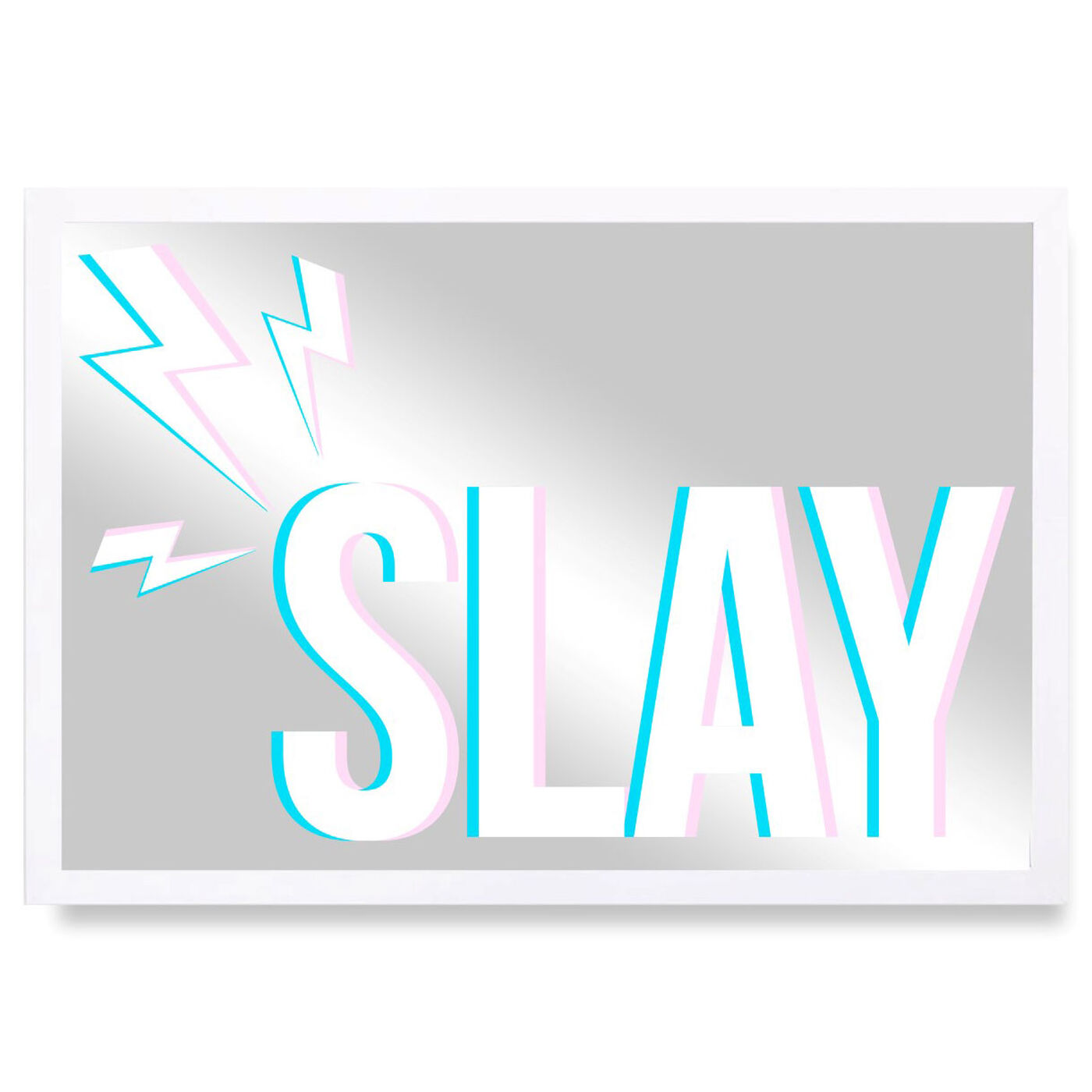 Front view of Slay featuring typography and quotes and quotes and sayings art.