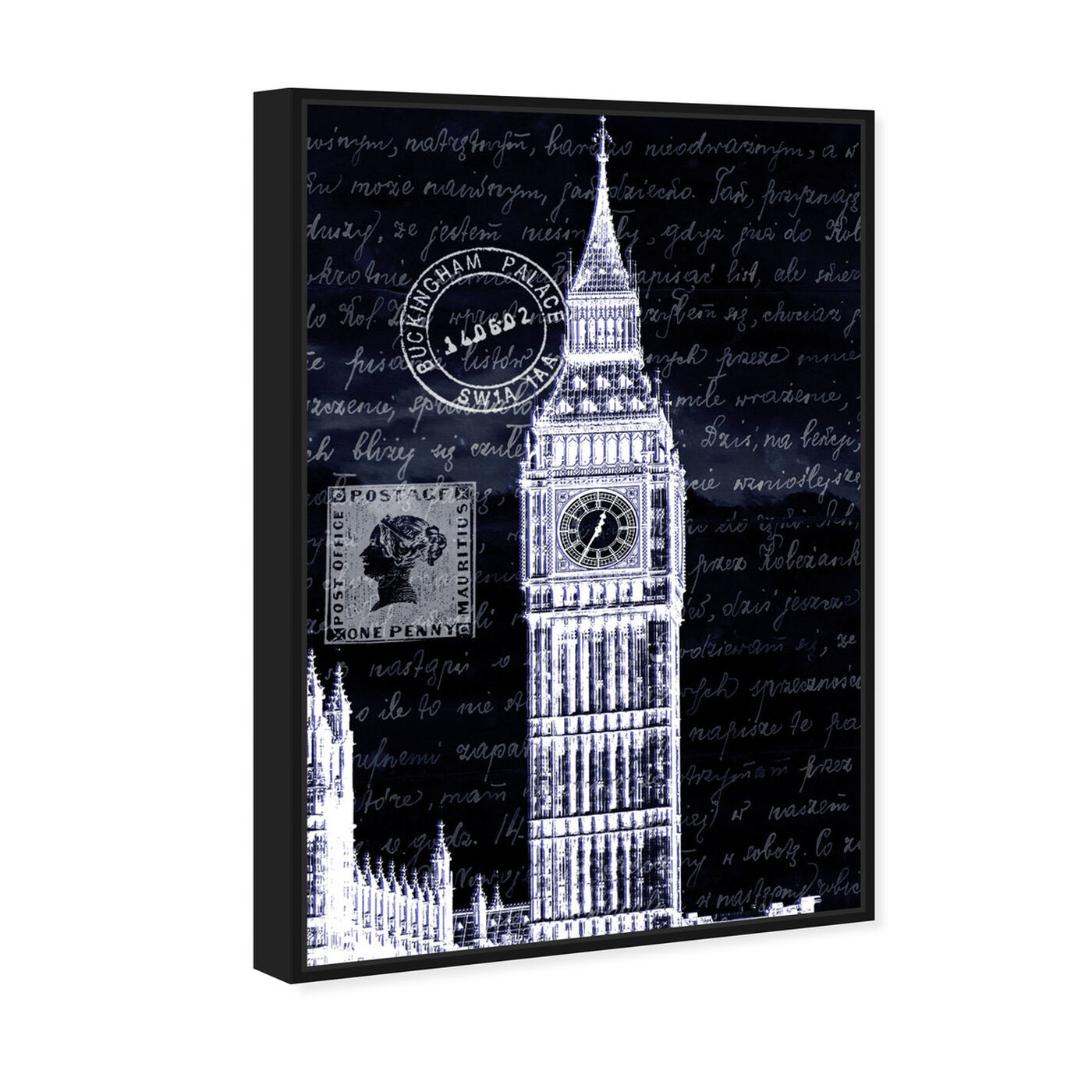 Angled view of Letters to Big Ben Night featuring architecture and buildings and european buildings art.