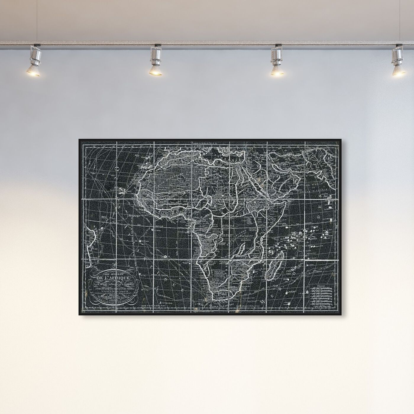 Hanging view of Africa Map 1829 featuring maps and flags and map of africa art.