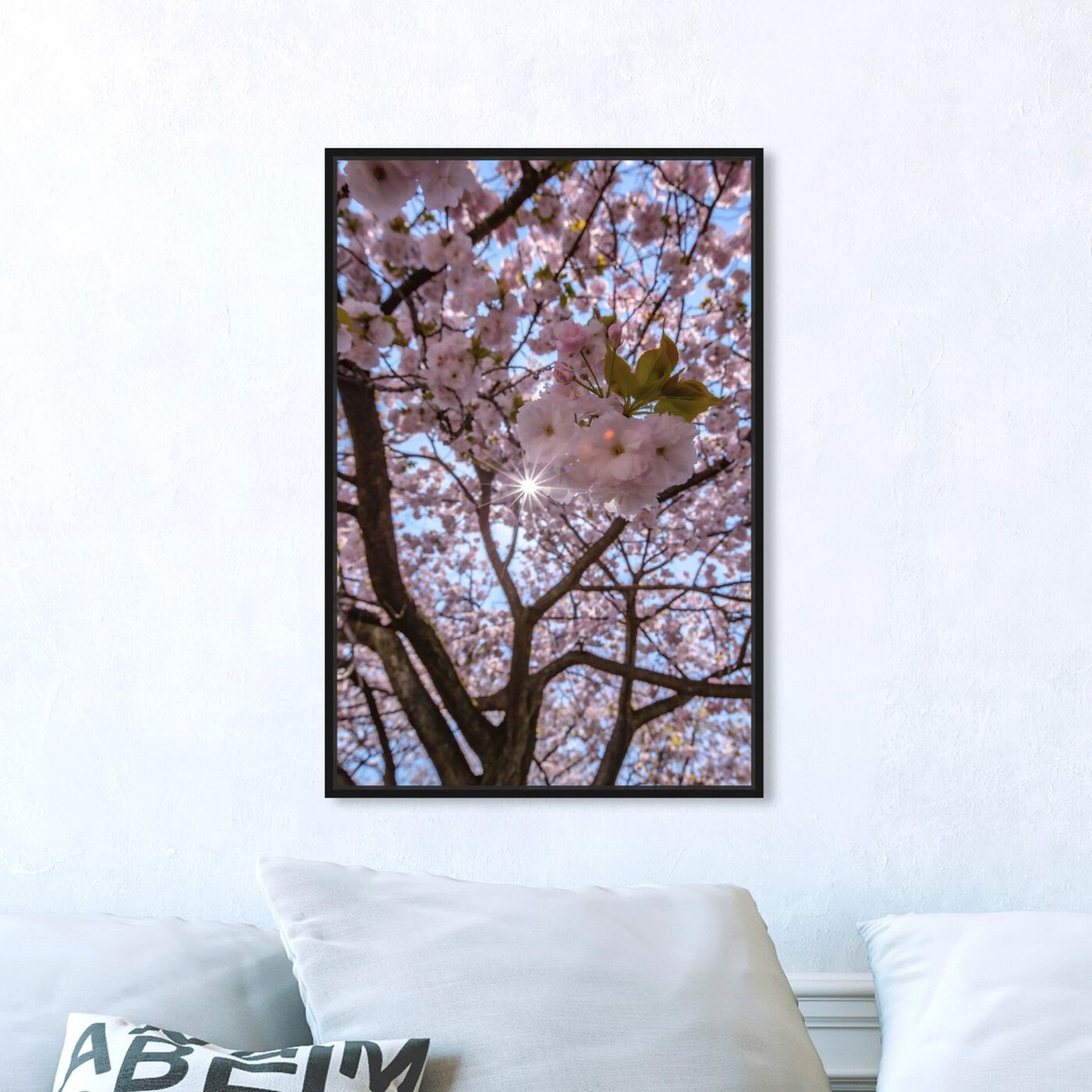 Hanging view of Curro Cardenal - Blush Cherries featuring floral and botanical and florals art.