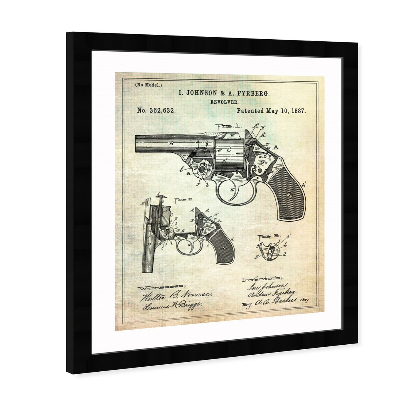 Angled view of Revolver 1887 featuring entertainment and hobbies and machine guns art.