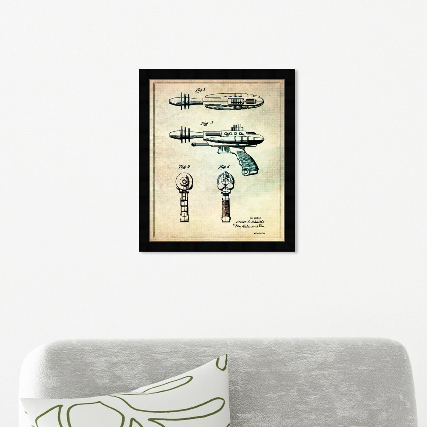 Hanging view of Pyrotomic Disintegrator Gun, 1963 featuring entertainment and hobbies and machine guns art.