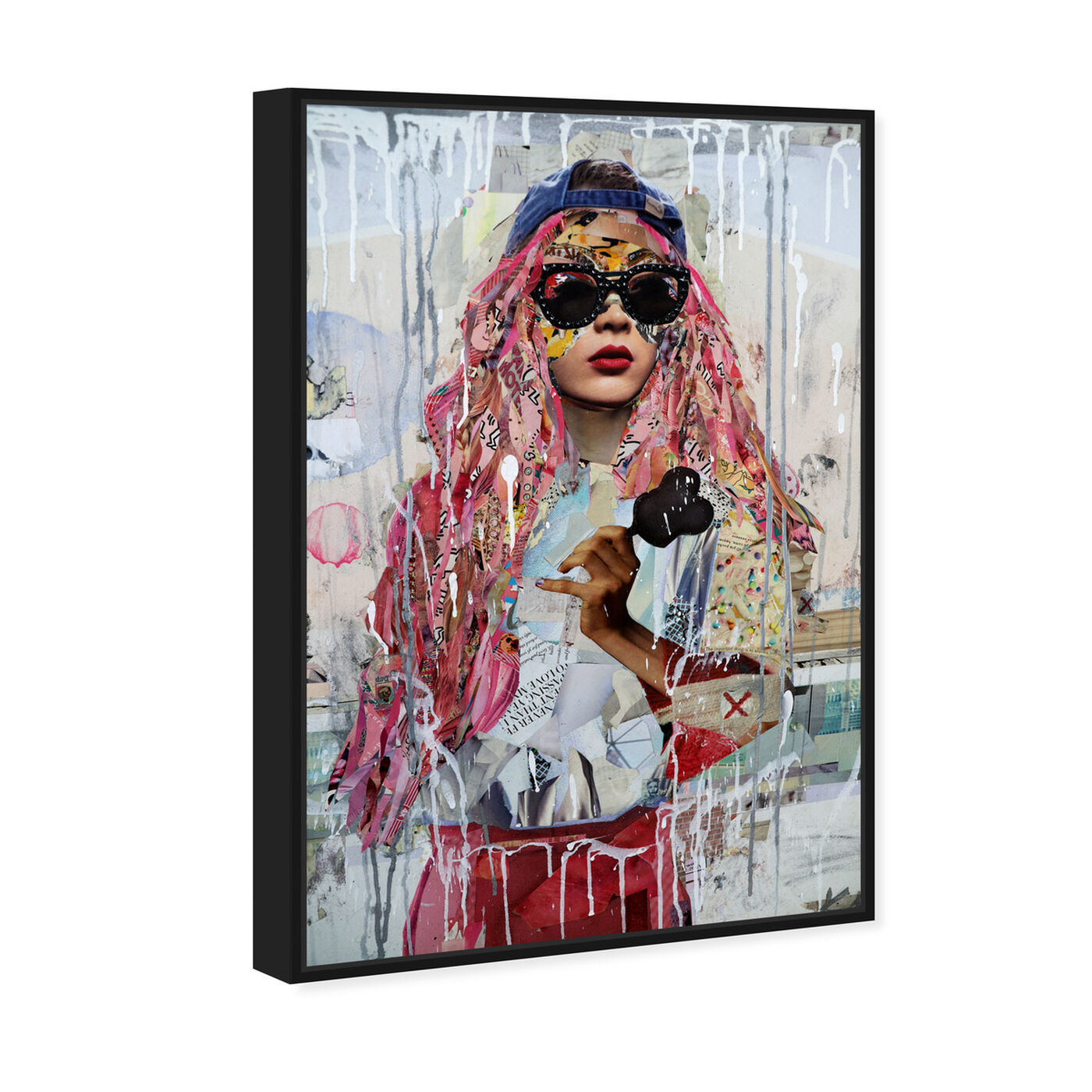 Angled view of Katy Hirschfeld - Urban Streetwise Glam featuring fashion and glam and portraits art.