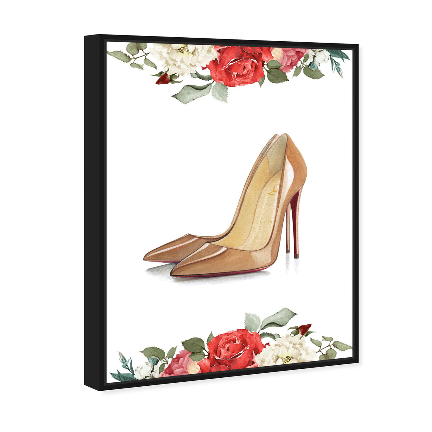 Angled view of Doll Memories - Standalone Stilettos featuring fashion and glam and shoes art.