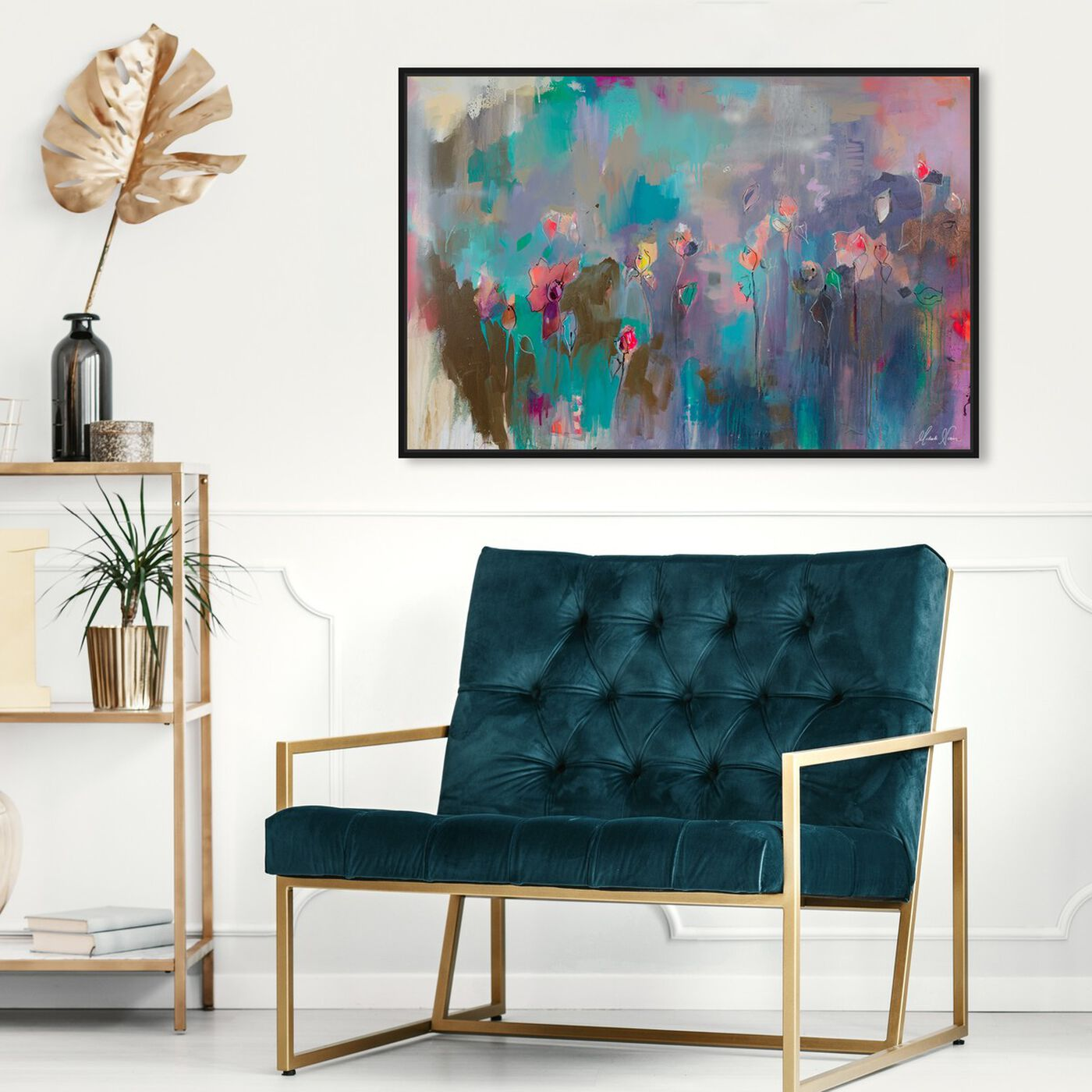 Hanging view of Truth is My Identity by Michaela Nessim featuring abstract and paint art.