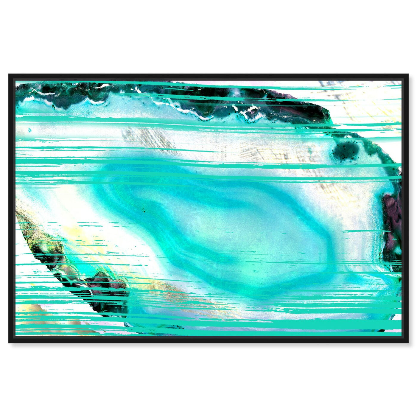 Front view of Agate Turca - Signature Collection featuring abstract and crystals art.