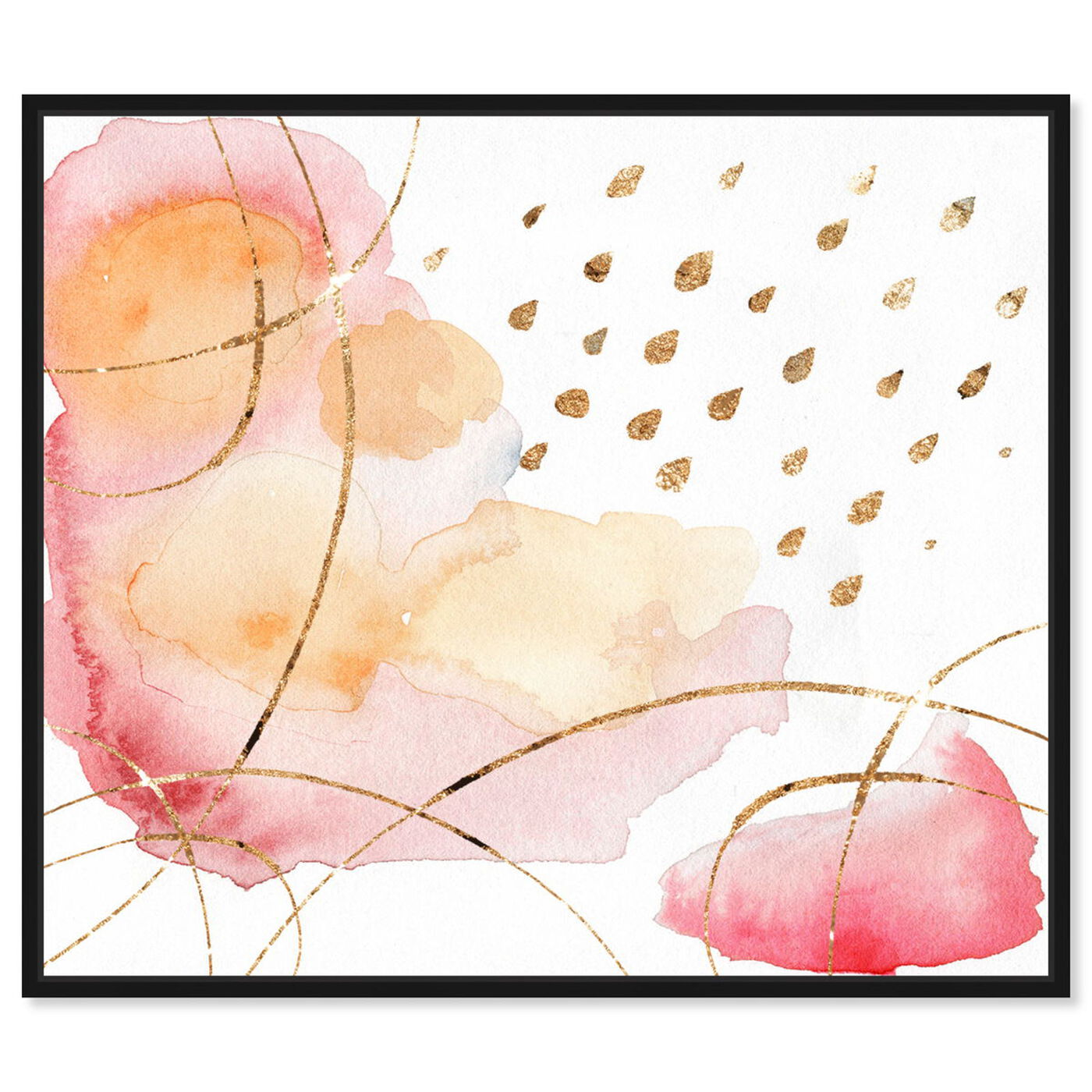 Front view of Rain Or Shine Coral featuring abstract and watercolor art.