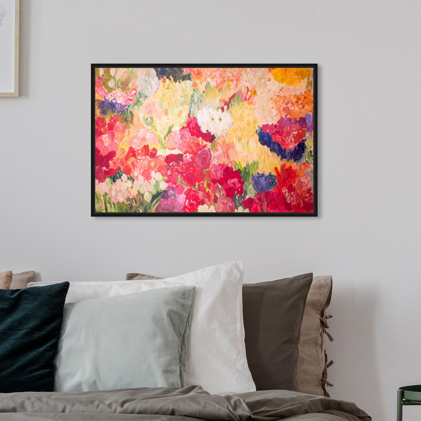 Hanging view of Tuppence a Bunch by Claire Sower featuring floral and botanical and gardens art.
