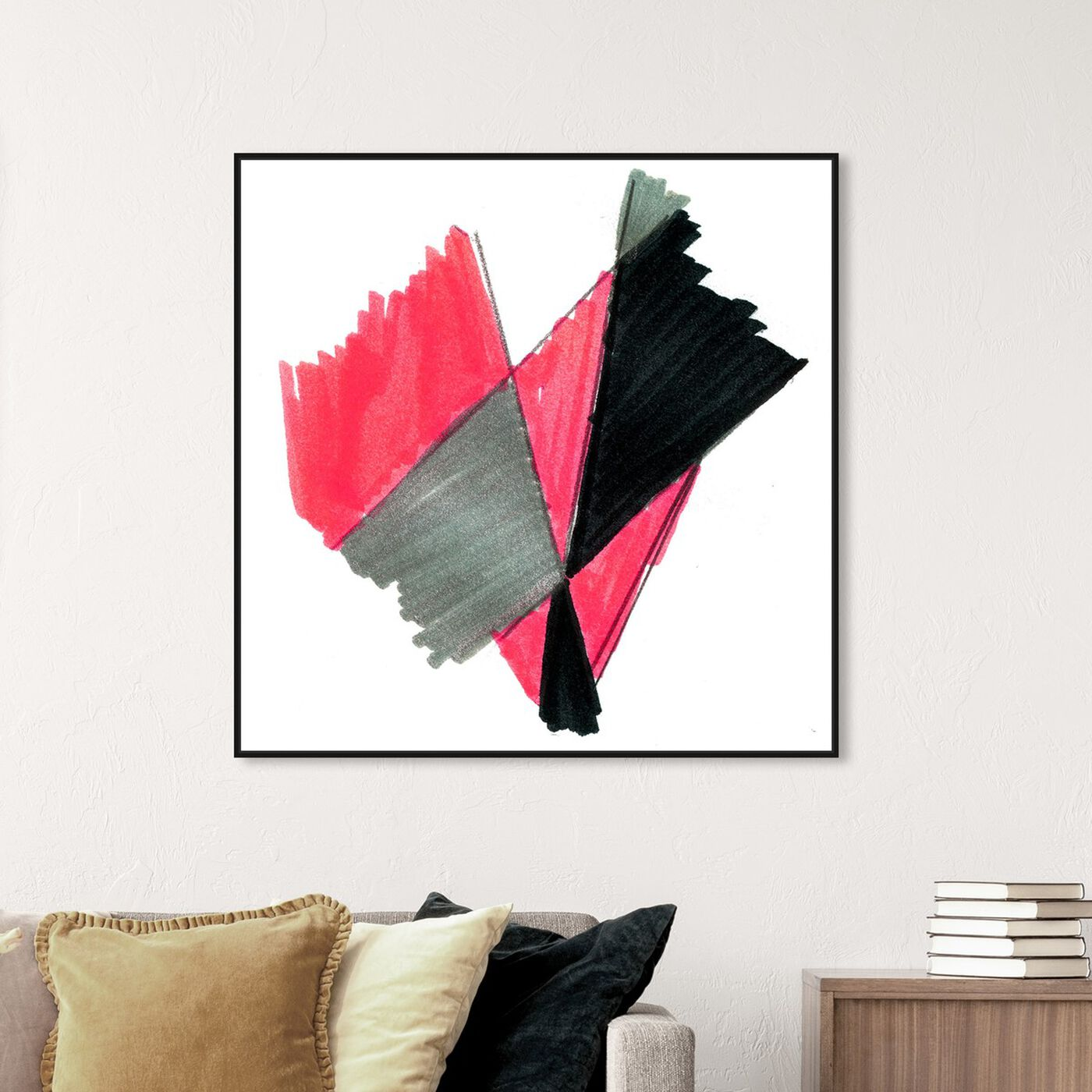 Hanging view of MonHeart featuring abstract and geometric art.