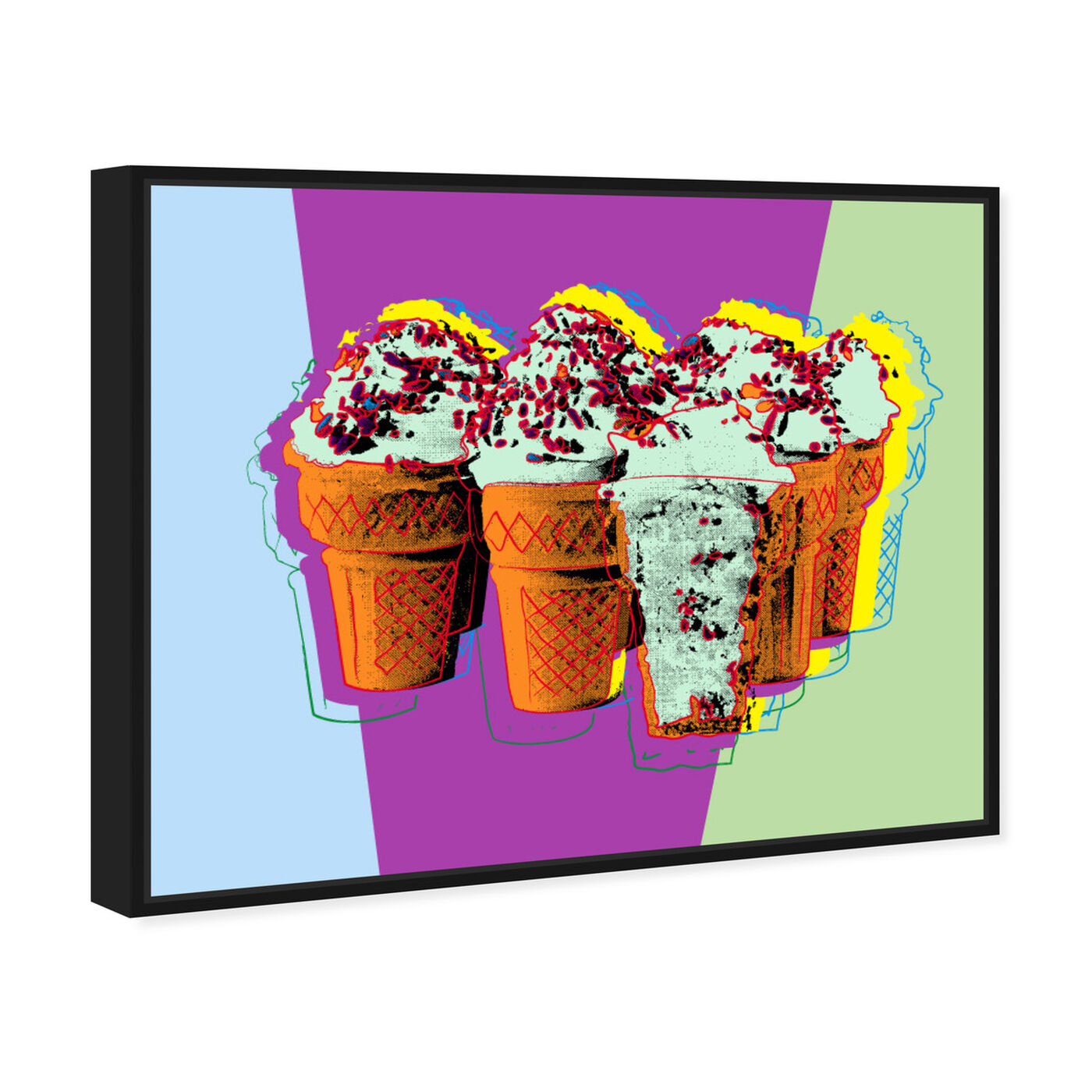 Angled view of Classic Ice Cream featuring food and cuisine and ice cream and milkshakes art.