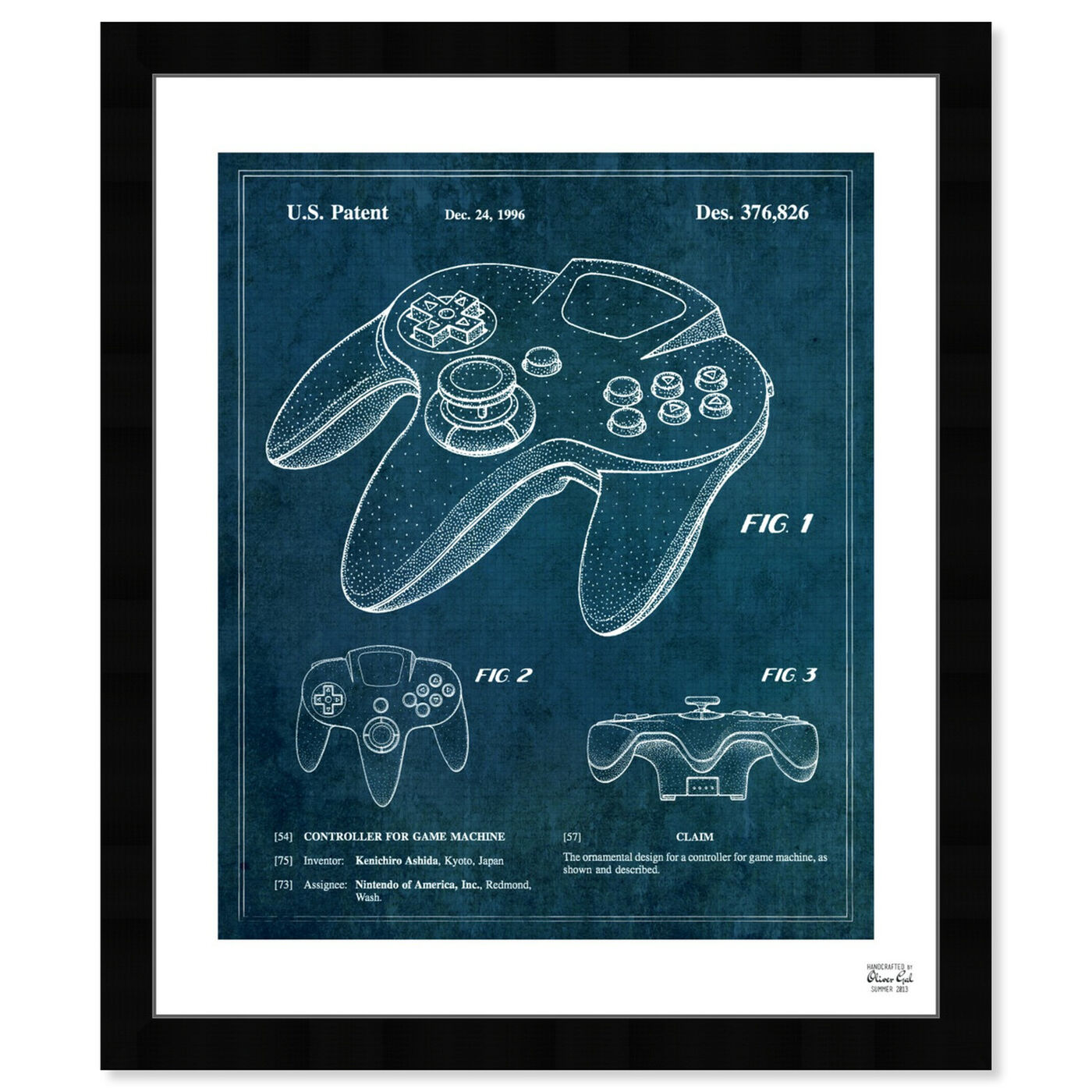 Front view of Controller For Game Machine 1996 featuring entertainment and hobbies and video games art.