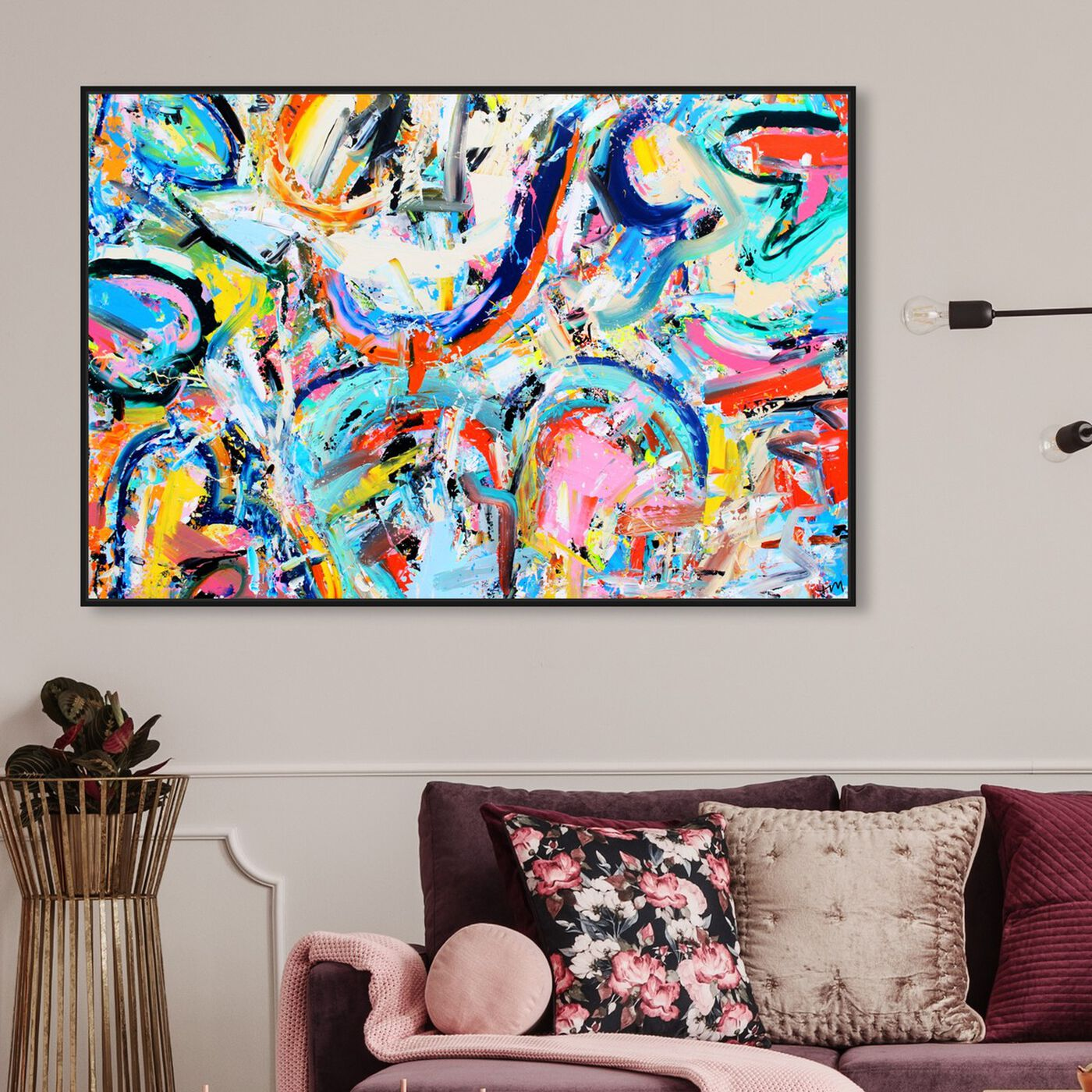 Hanging view of Vita Loqui by Tiago Magro featuring abstract and paint art.