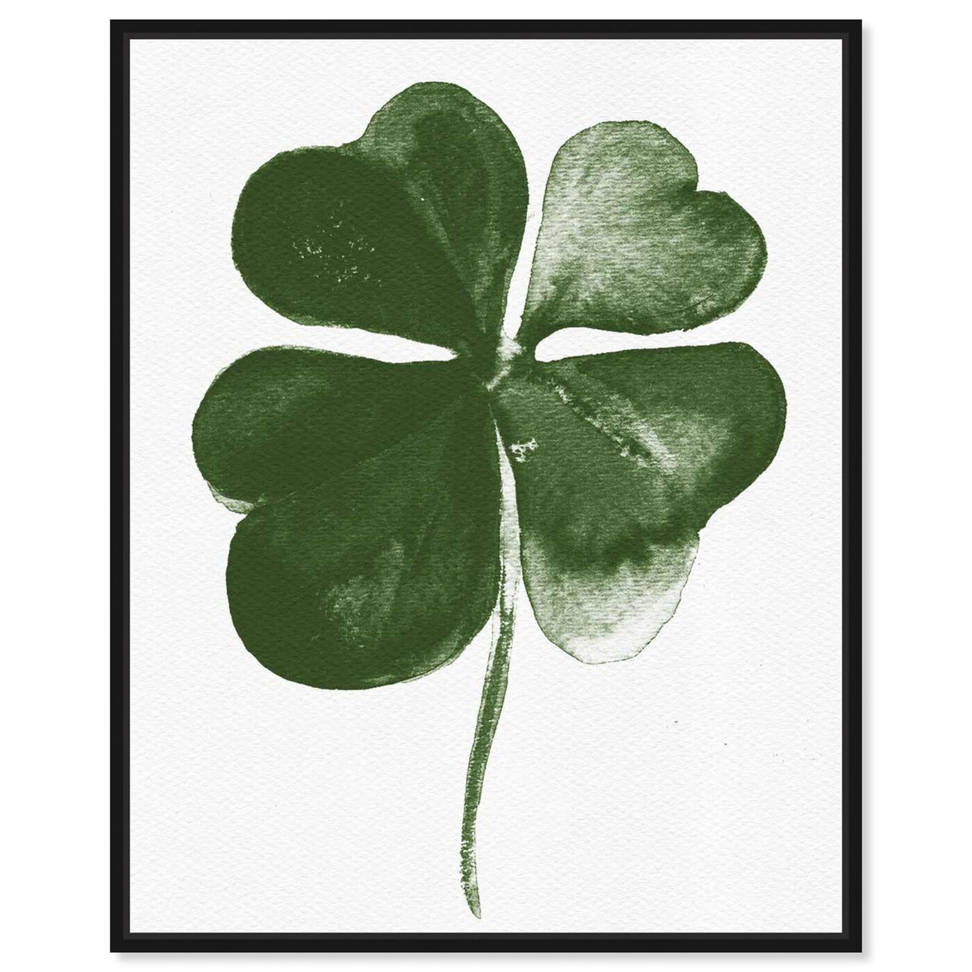 Front view of Four Leaf Clover featuring floral and botanical and botanicals art.