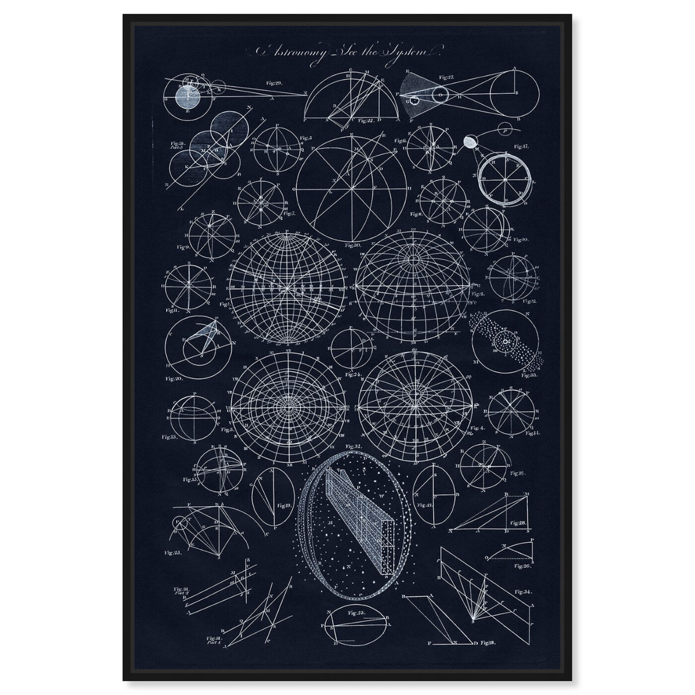 Front view of Astronomy System featuring astronomy and space and solar system art.