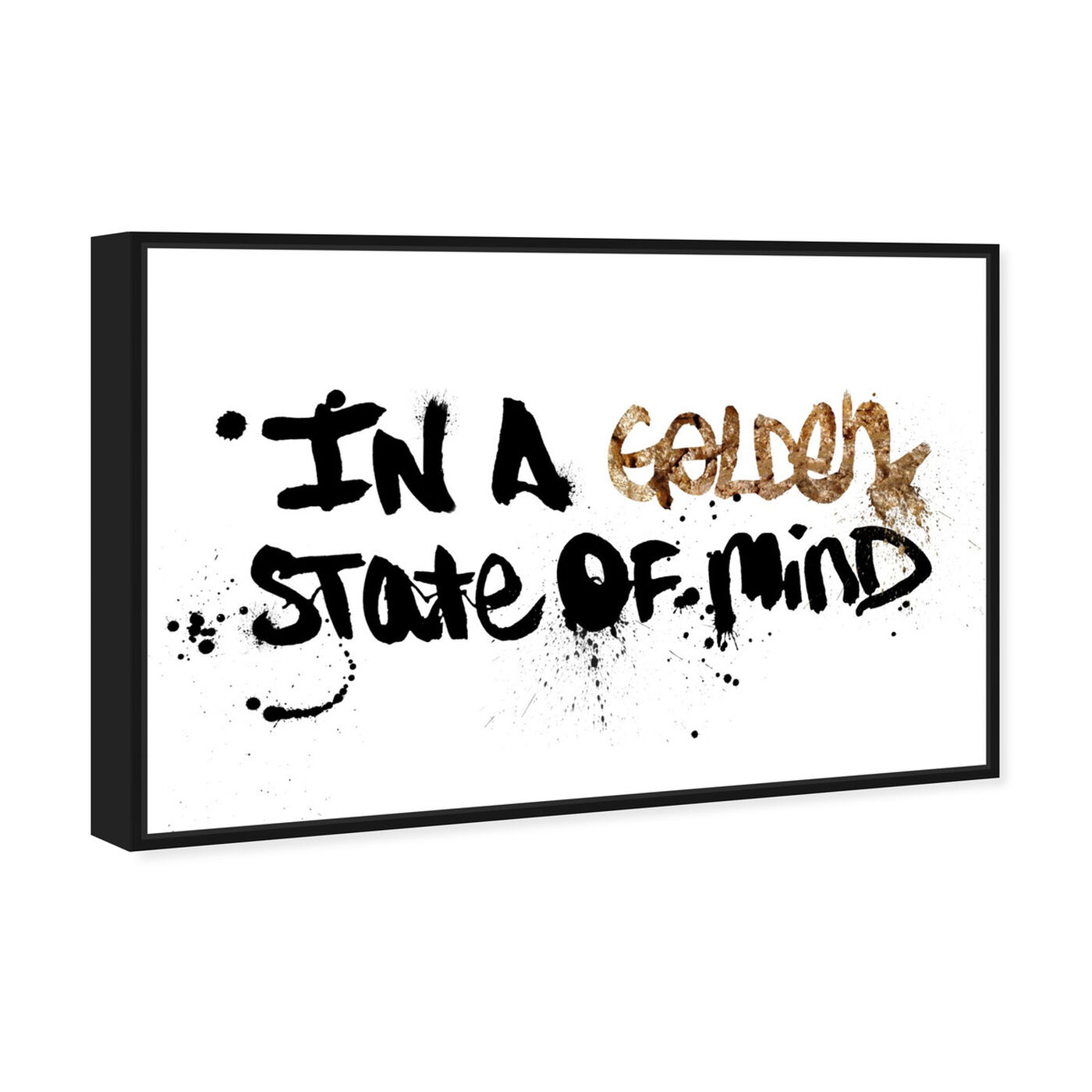 Angled view of State of Mind featuring typography and quotes and motivational quotes and sayings art.