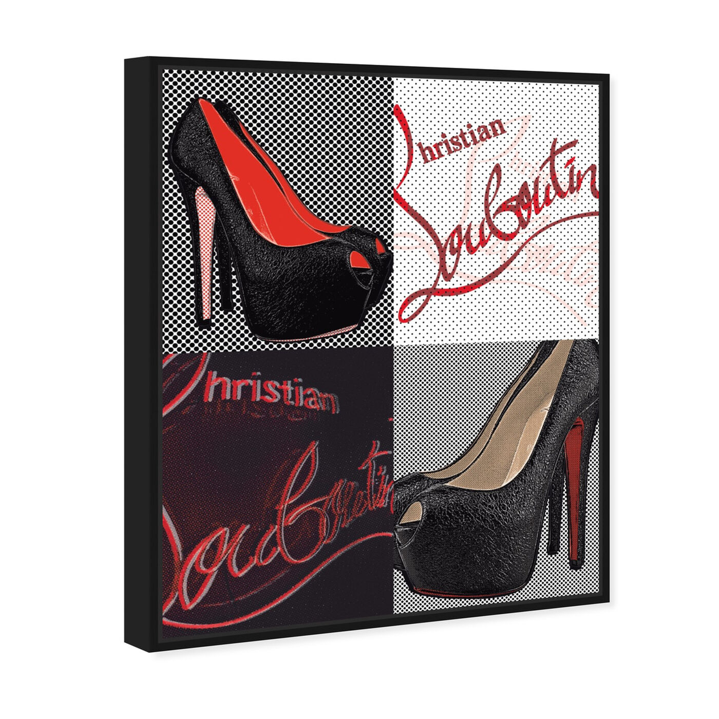 Angled view of Red Soles I featuring fashion and glam and shoes art.