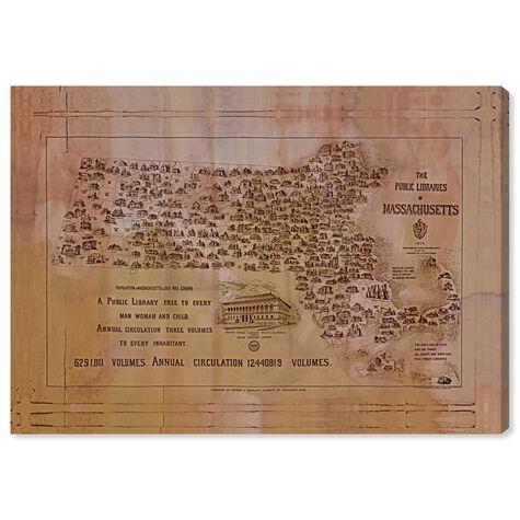 Public Libraries of Massachusetts Map