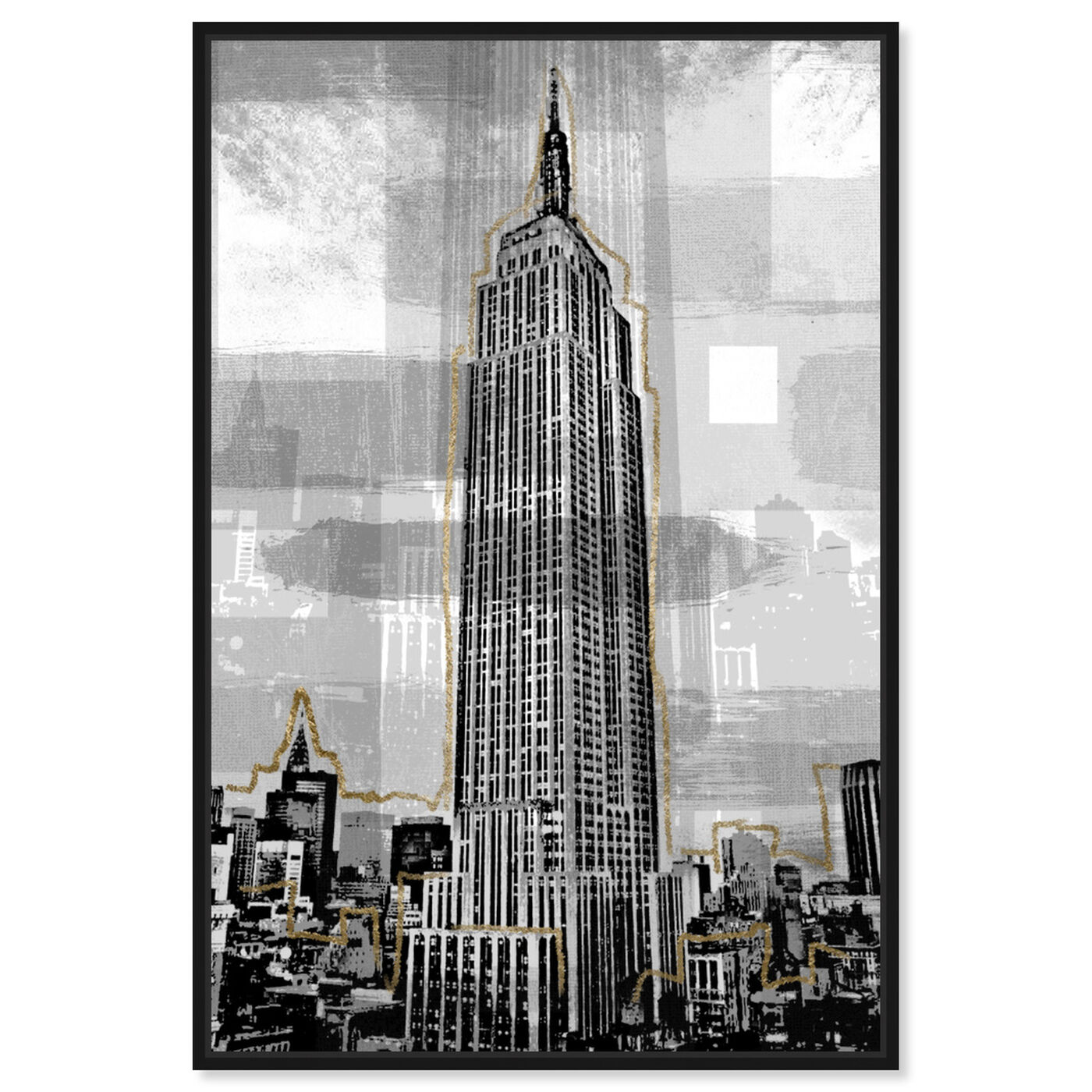 Front view of Golden Empire State featuring architecture and buildings and united states buildings art.